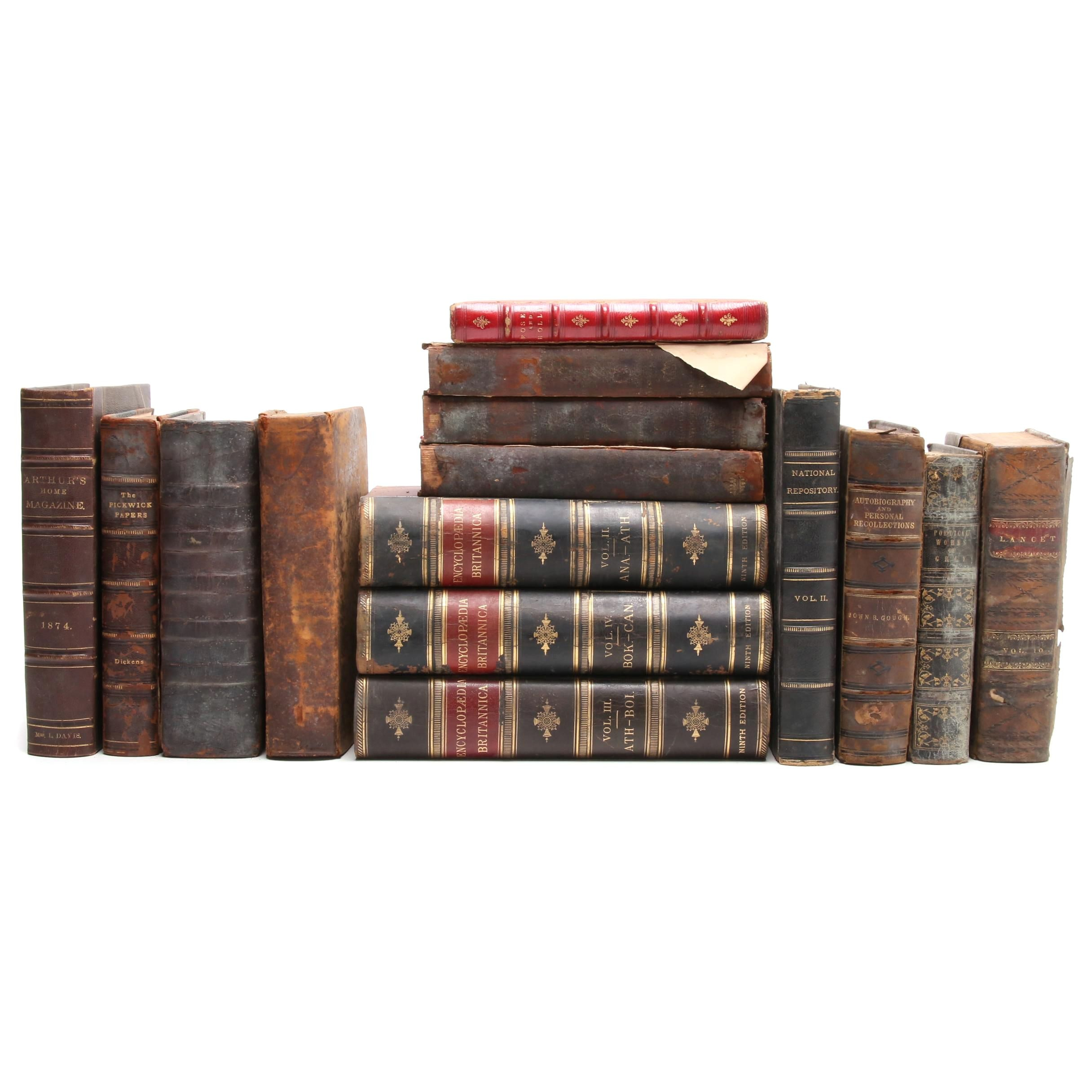 Group of 19th Century Hardcover Books
