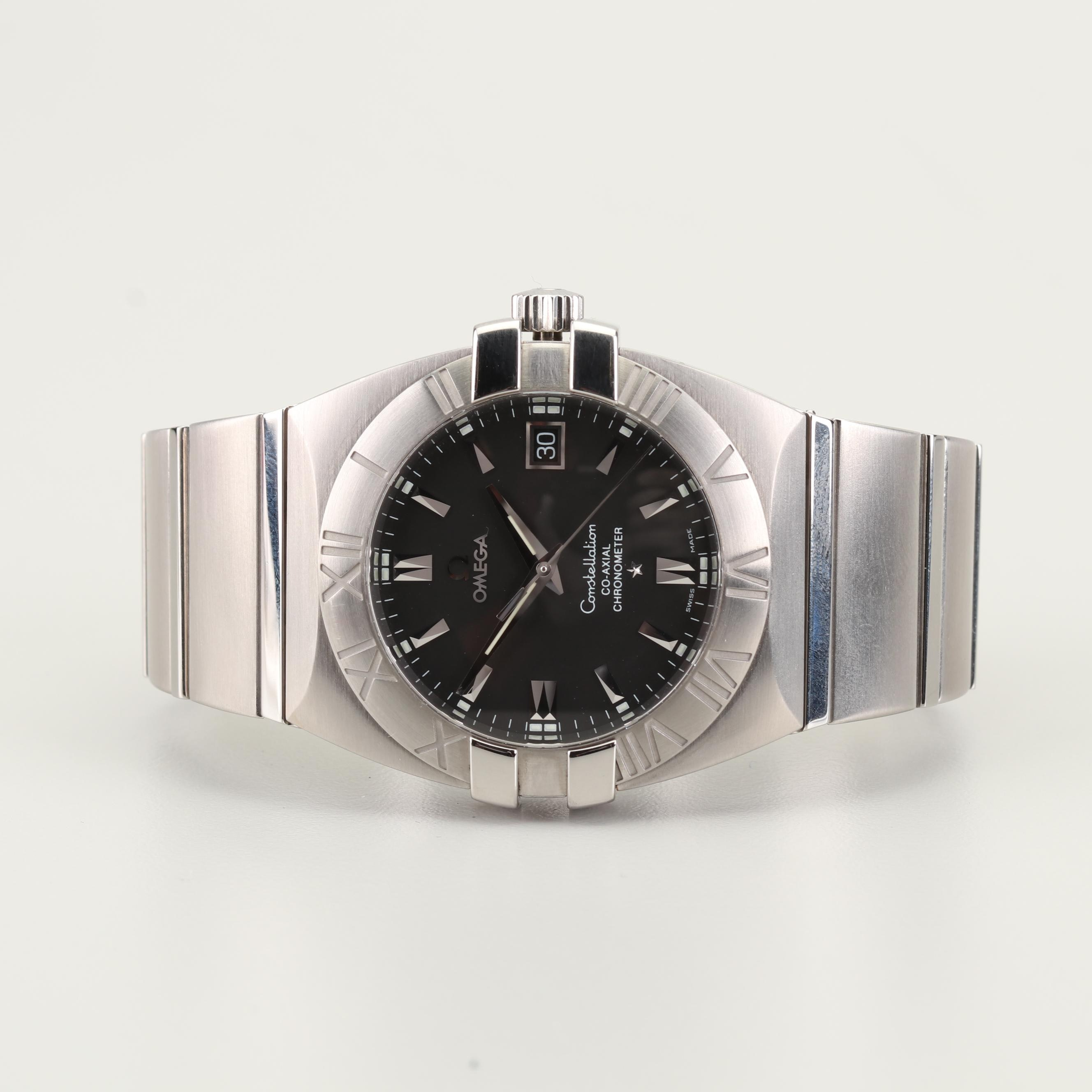 Omega Constellation Co-Axial Chronometer Stainless Steel Wristwatch