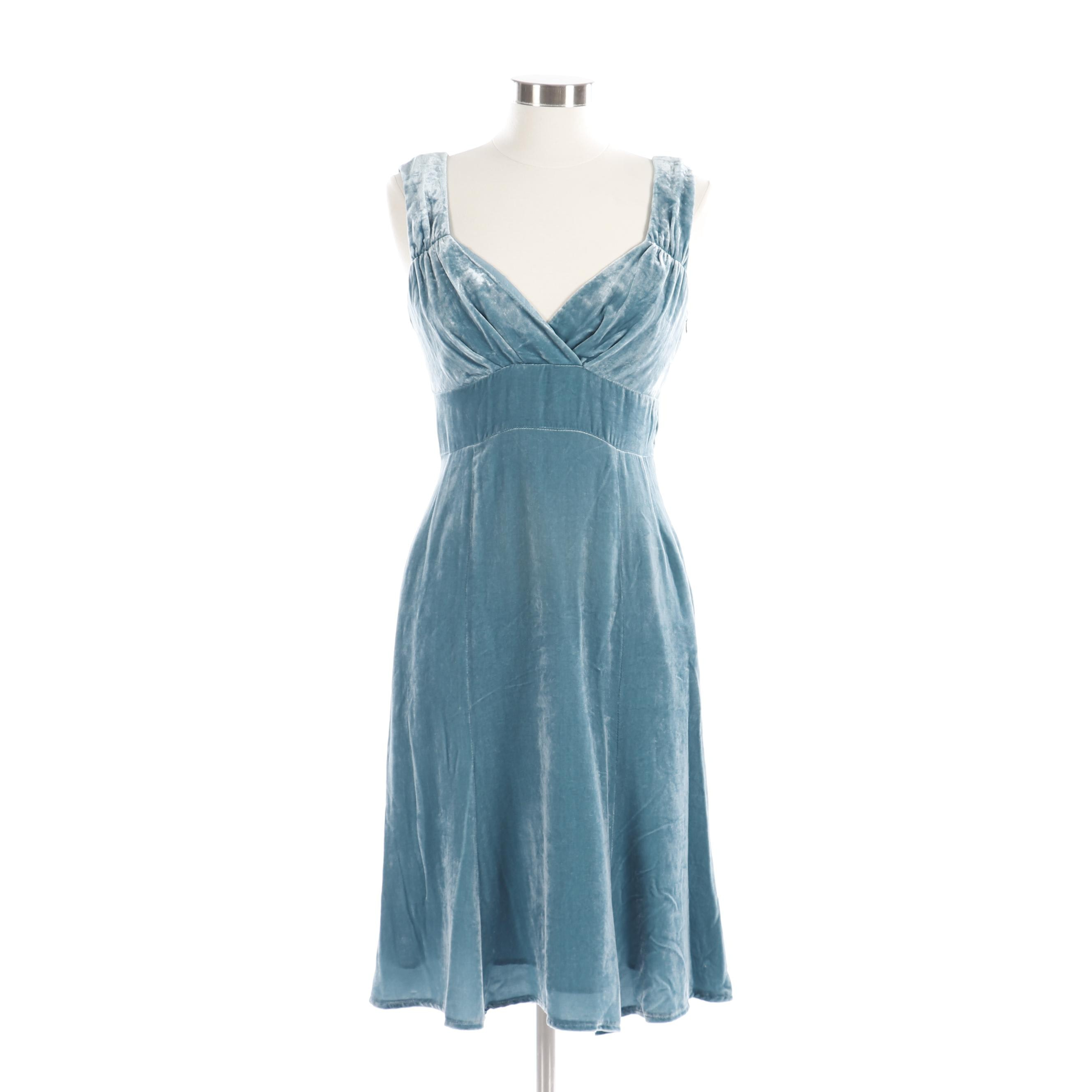 Nanette Lepore Blue Velvet Sleeveless Dress
