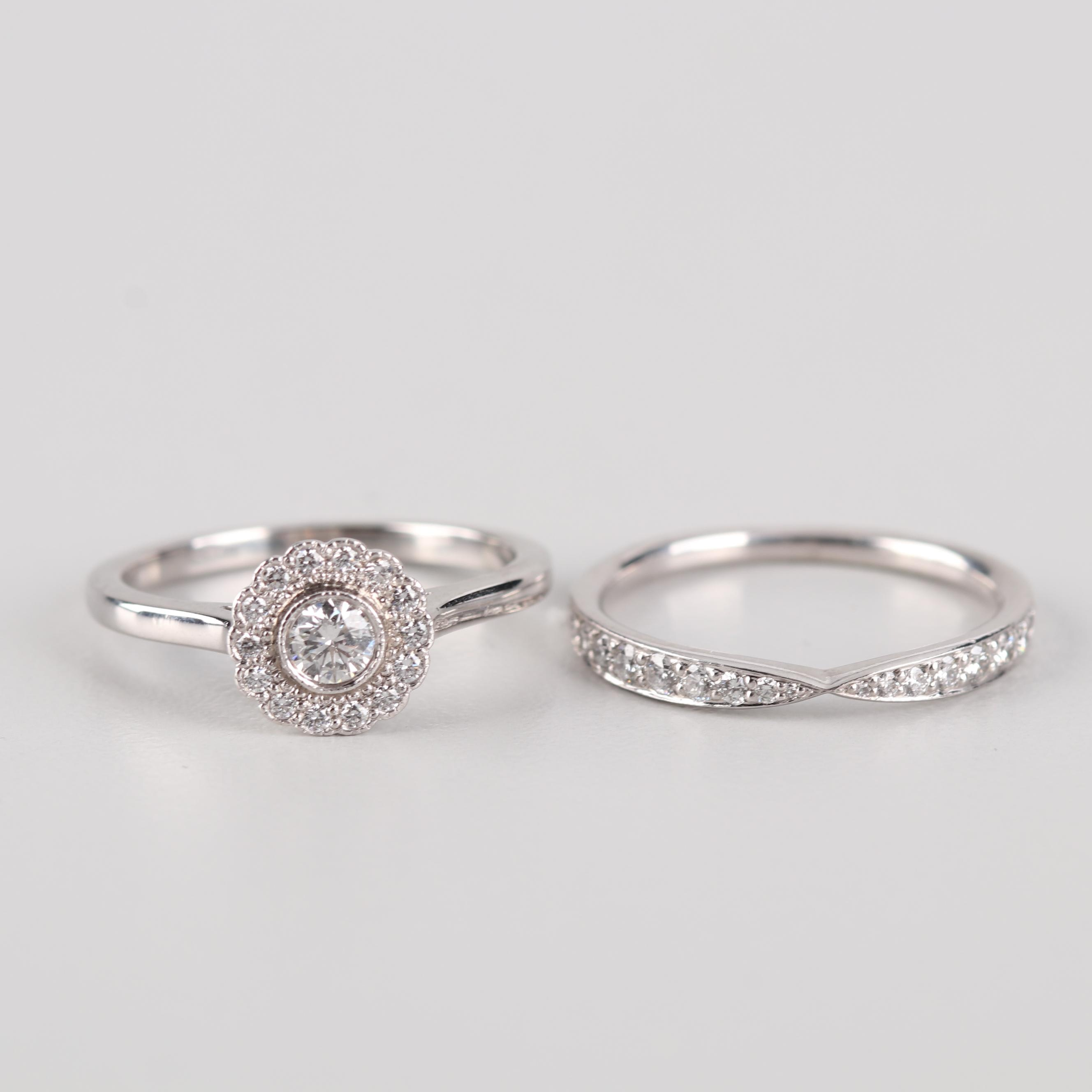 Tiffany & Co. Platinum Diamond Bridal Set
