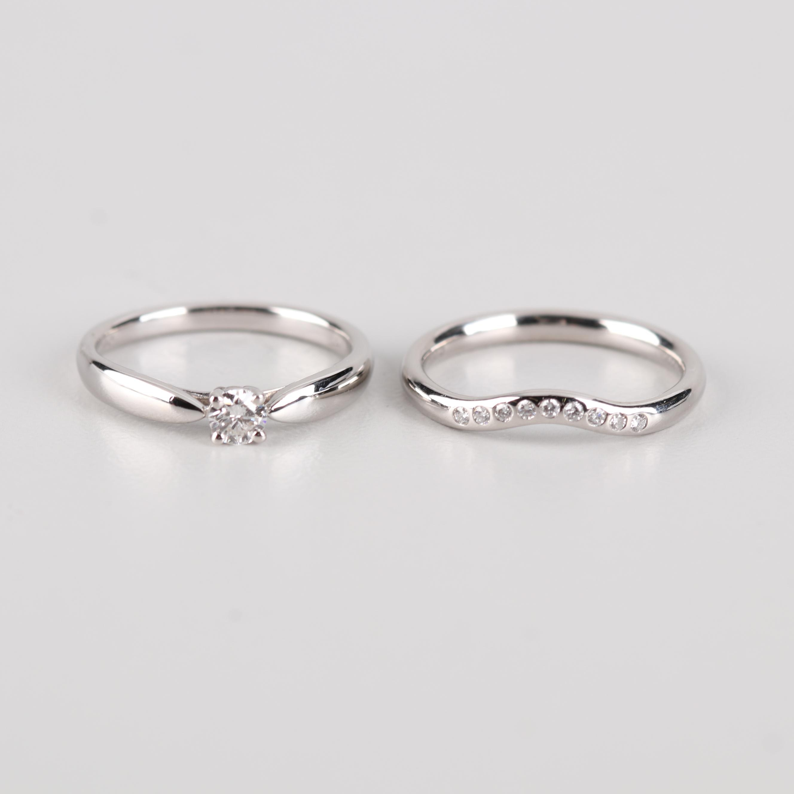 Tiffany & Co. Platinum Bridal Set