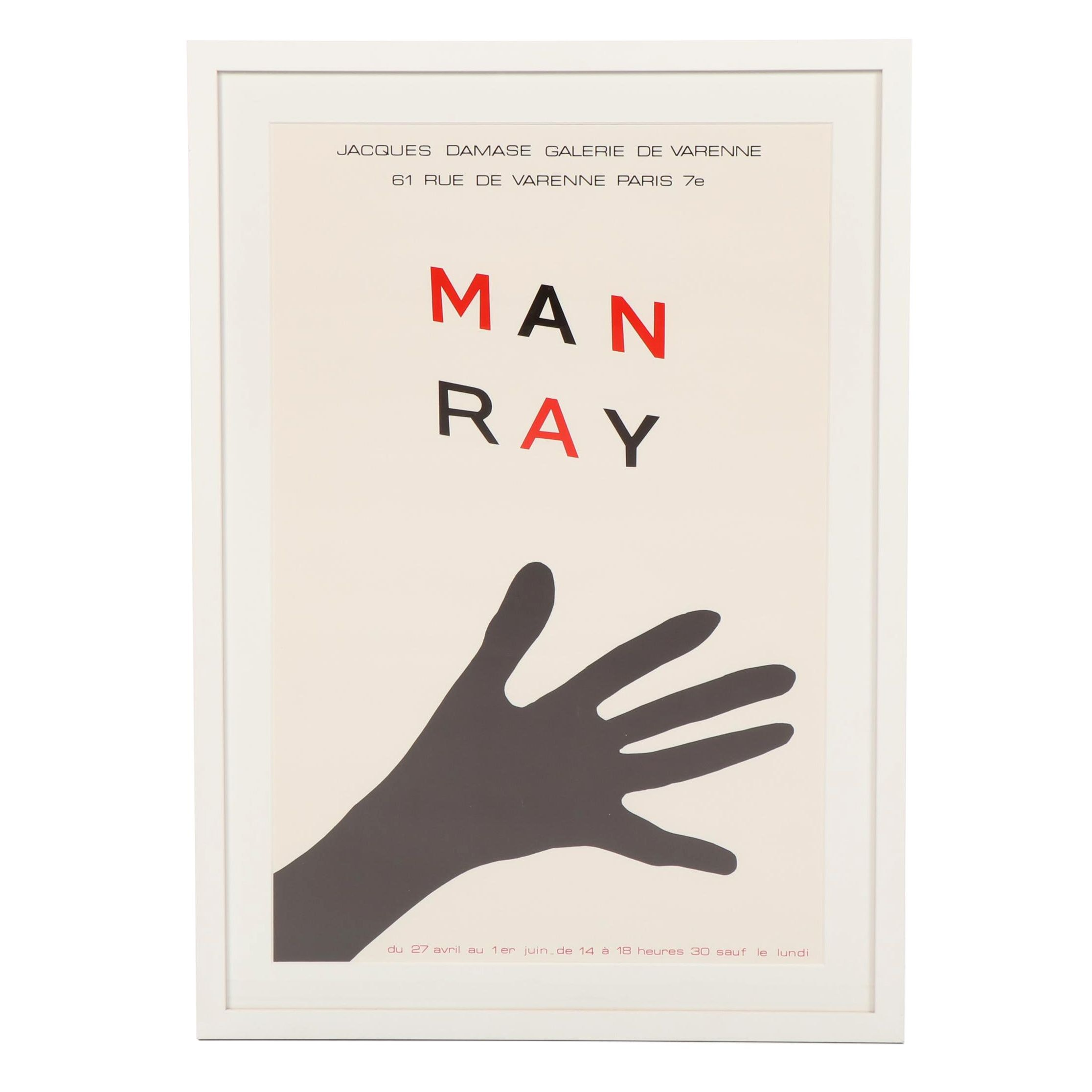 Man Ray Paris Exhibition Poster