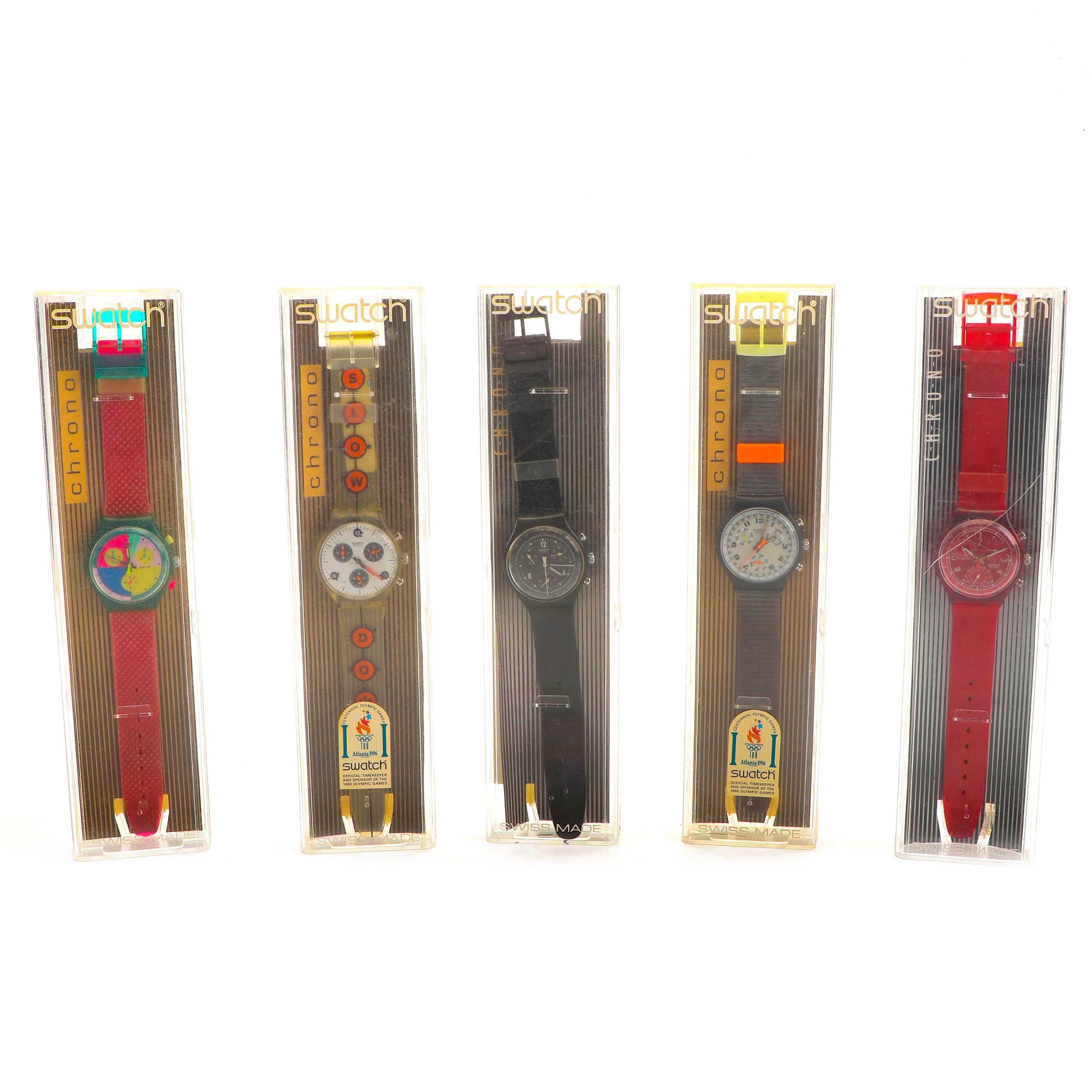 1990s Swiss Made Chrono Swatch-Watches