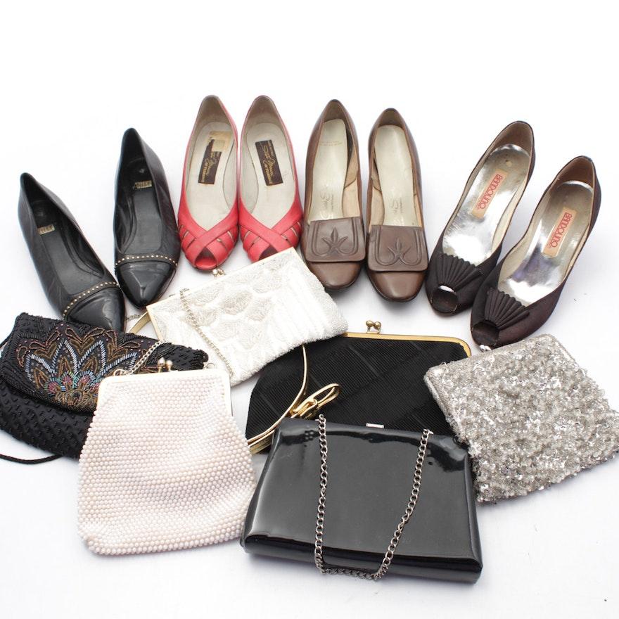 3abefcd20 Vintage Formal Fashion Accessories Featuring Bandolino, Circa 1950s-1970s
