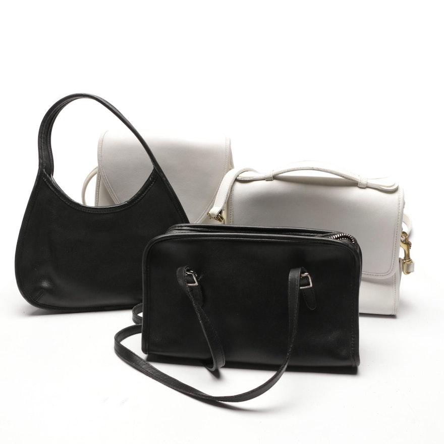1269ce30737 Vintage Coach Court, Lindsay, Mini Ergo and Swing Leather Handbags ...