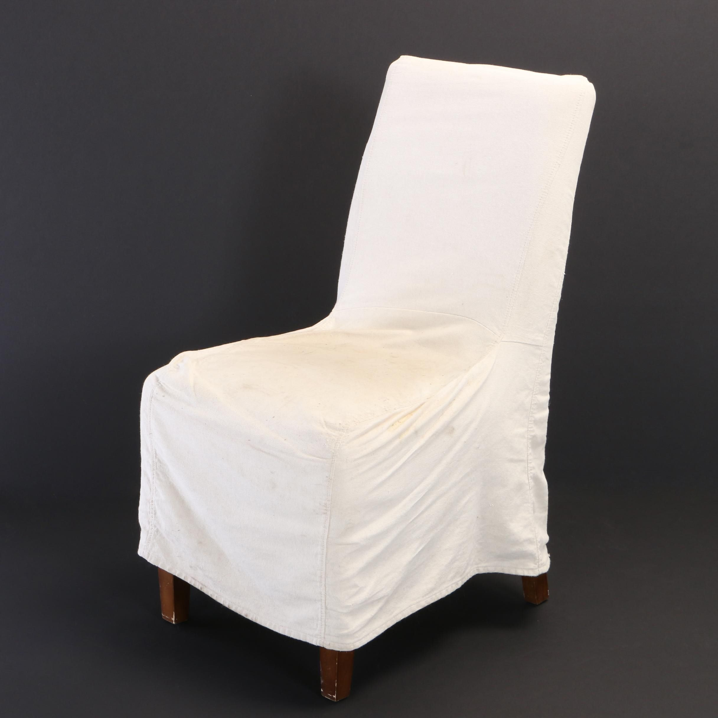 Contemporary Slip-Covered Side Chair by World Market