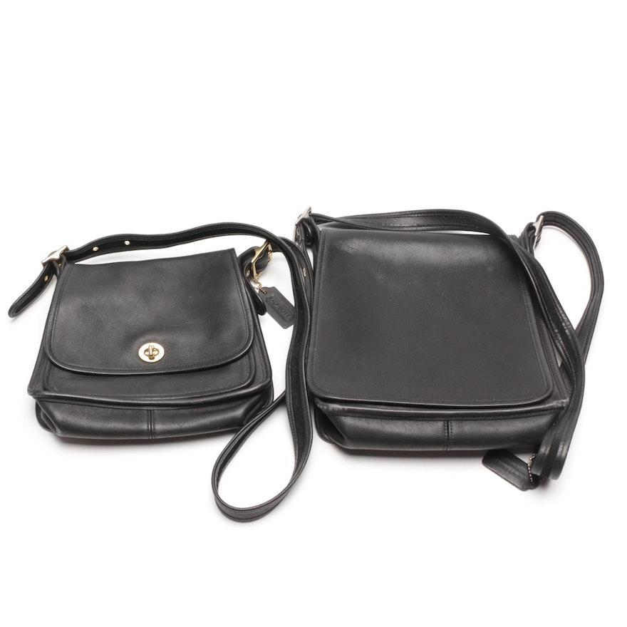 1a9ebe6db1f Vintage Coach Black Leather Crossbody Handbags   EBTH