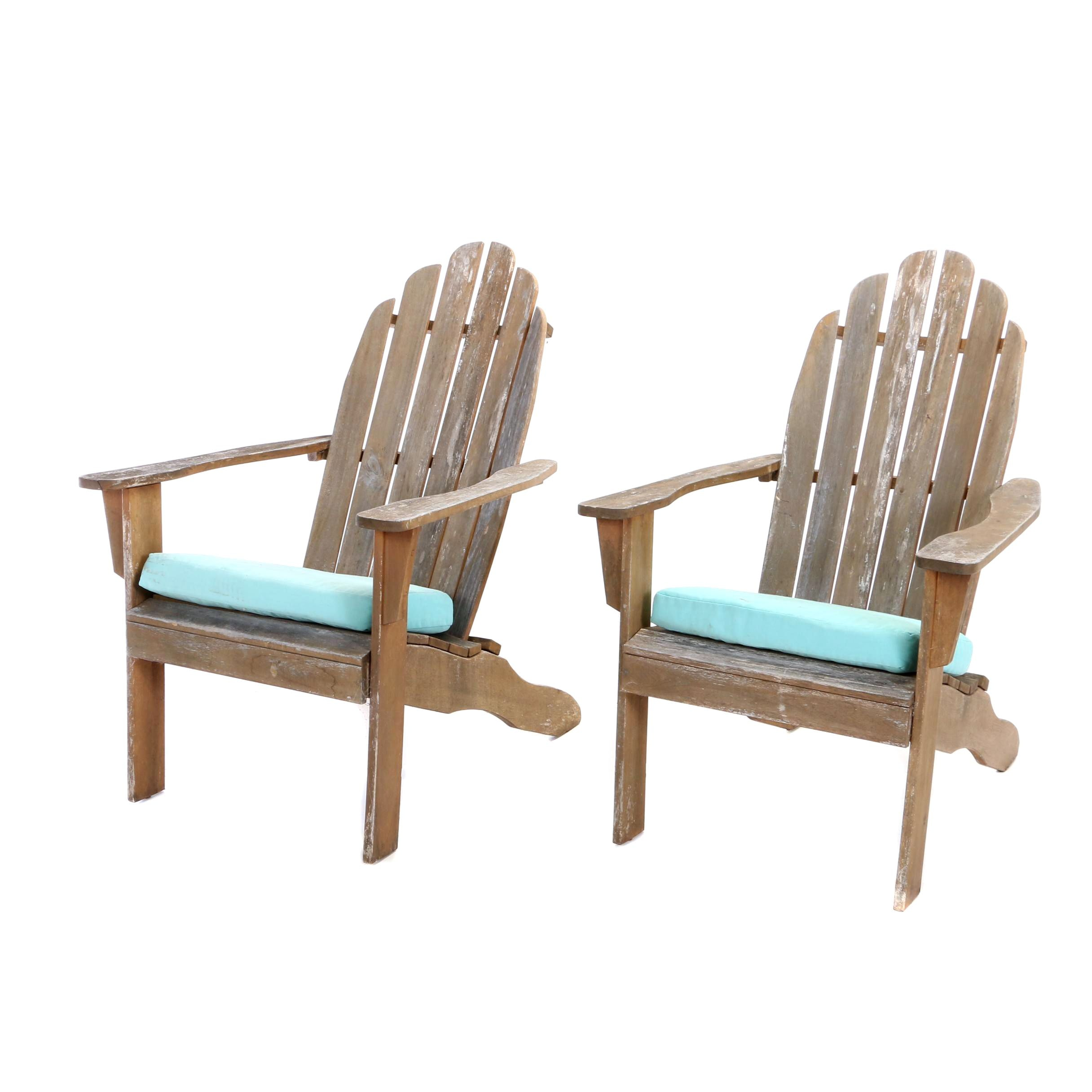 Pair of Contemporary Hardwood Patio Lounge Chairs by World Market