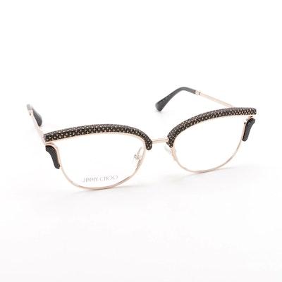 659acbb9d3a Jimmy Choo JC169 PSW Cat Eye Style Browline Eyeglasses