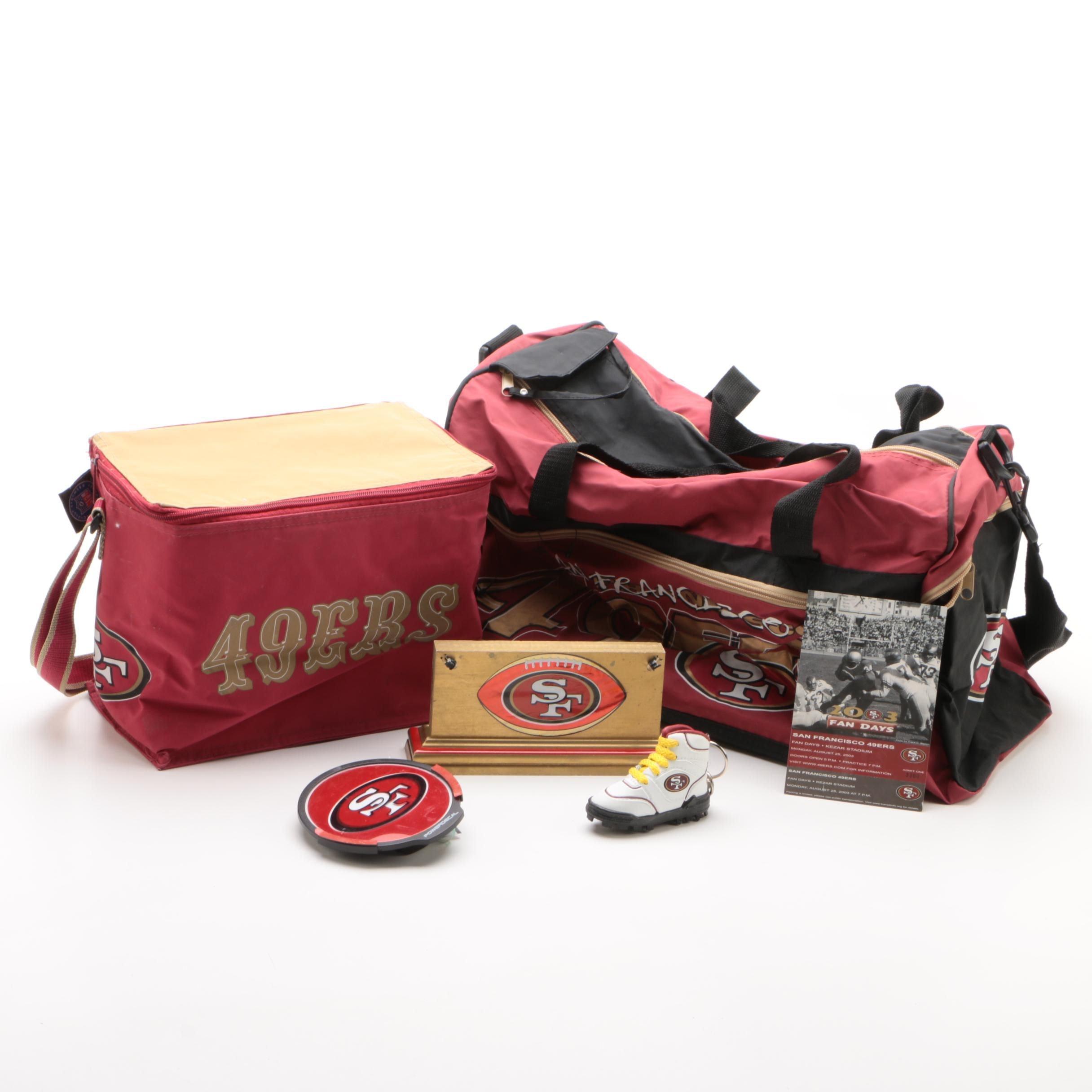San Francisco 49ers Duffel Bags and Other Memorabilia