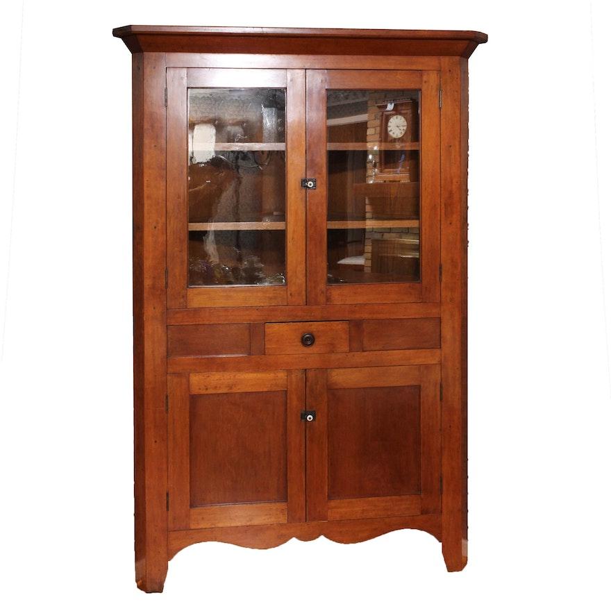 Antique Corner Wall Cabinet ... - Antique Corner Wall Cabinet : EBTH