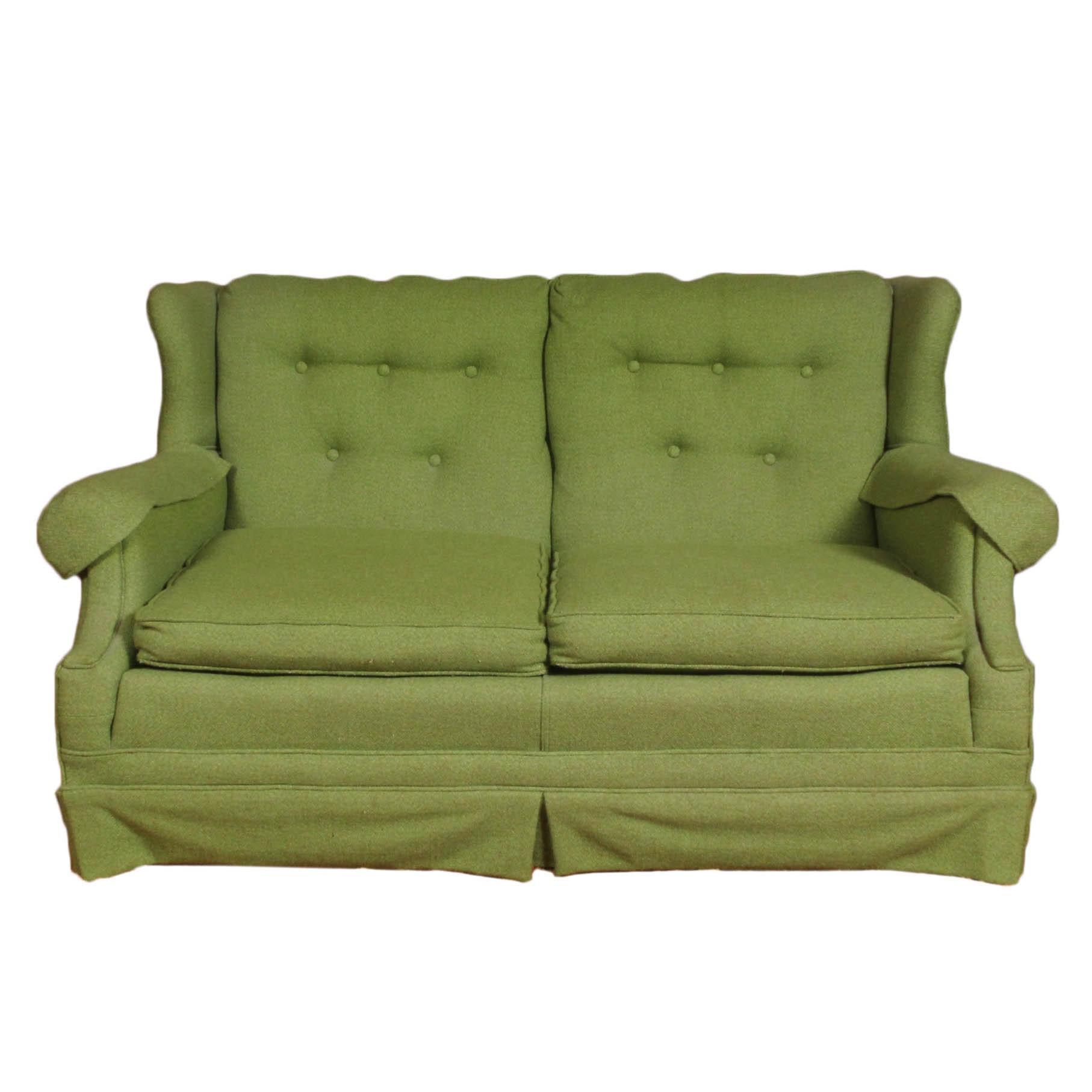 Vintage Tweed Upholstered Loveseat