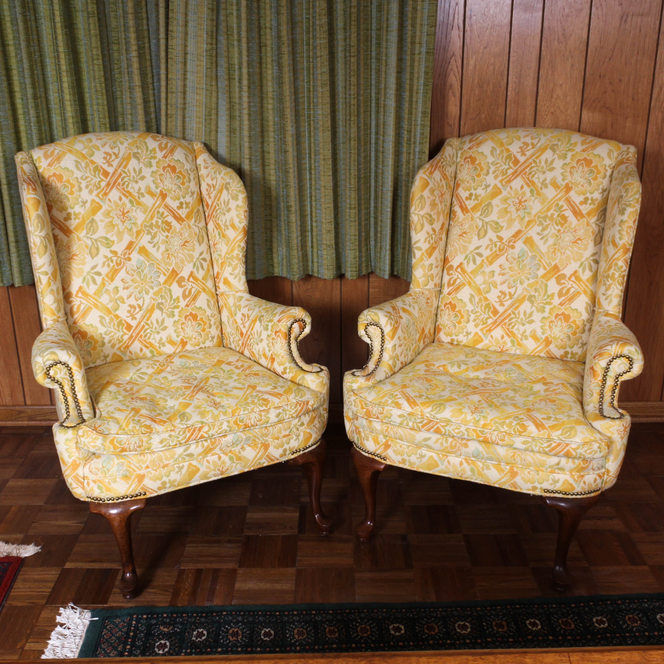 Century Furniture Vintage Wingback Chairs