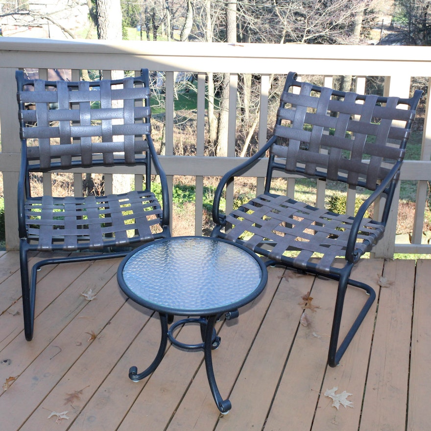 Terrific Brown Jordan Patio Chairs With Accent Table Pabps2019 Chair Design Images Pabps2019Com
