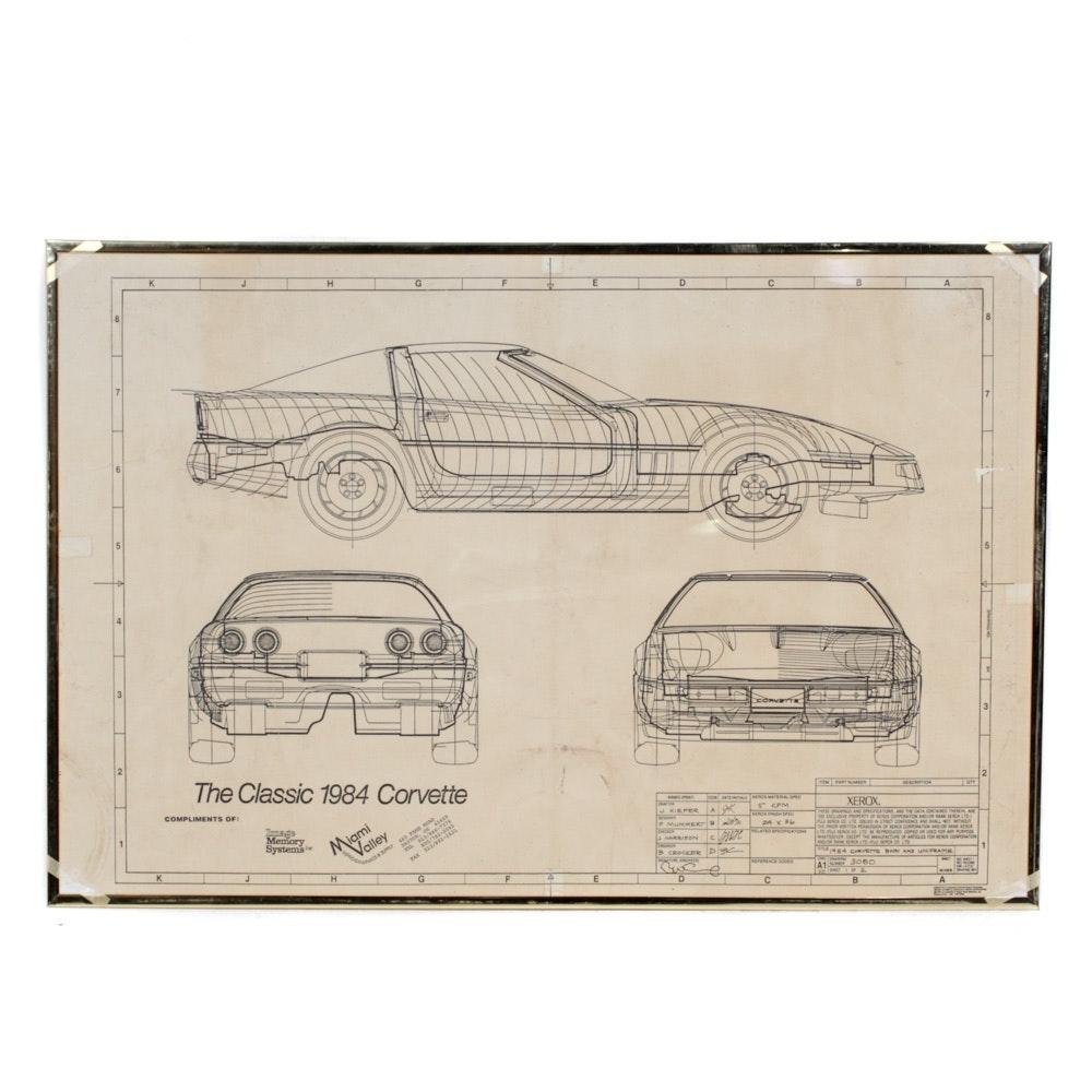 1984 Corvette Blueprint