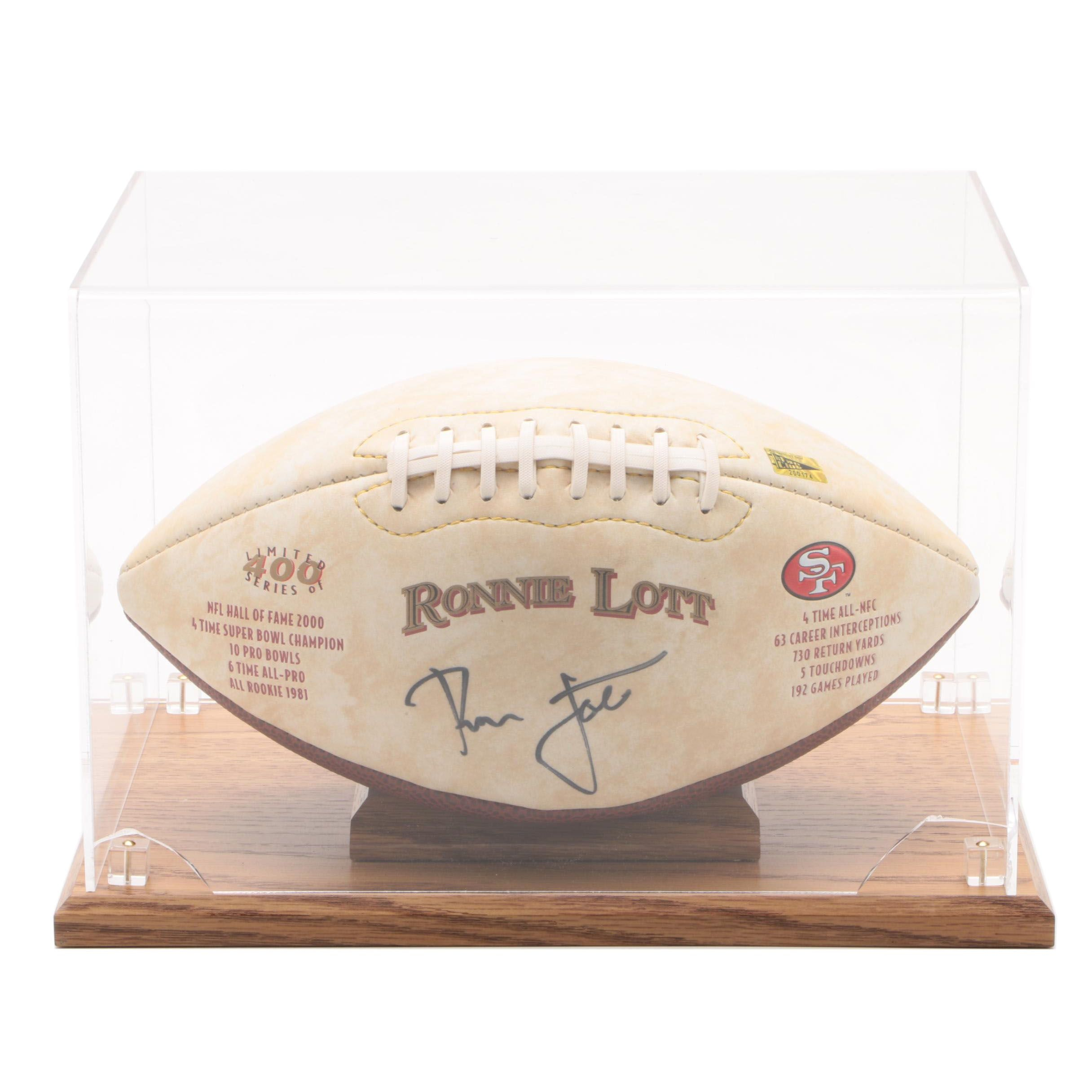 Ronnie Lott Autographed Commemorative San Francisco 49ers Football