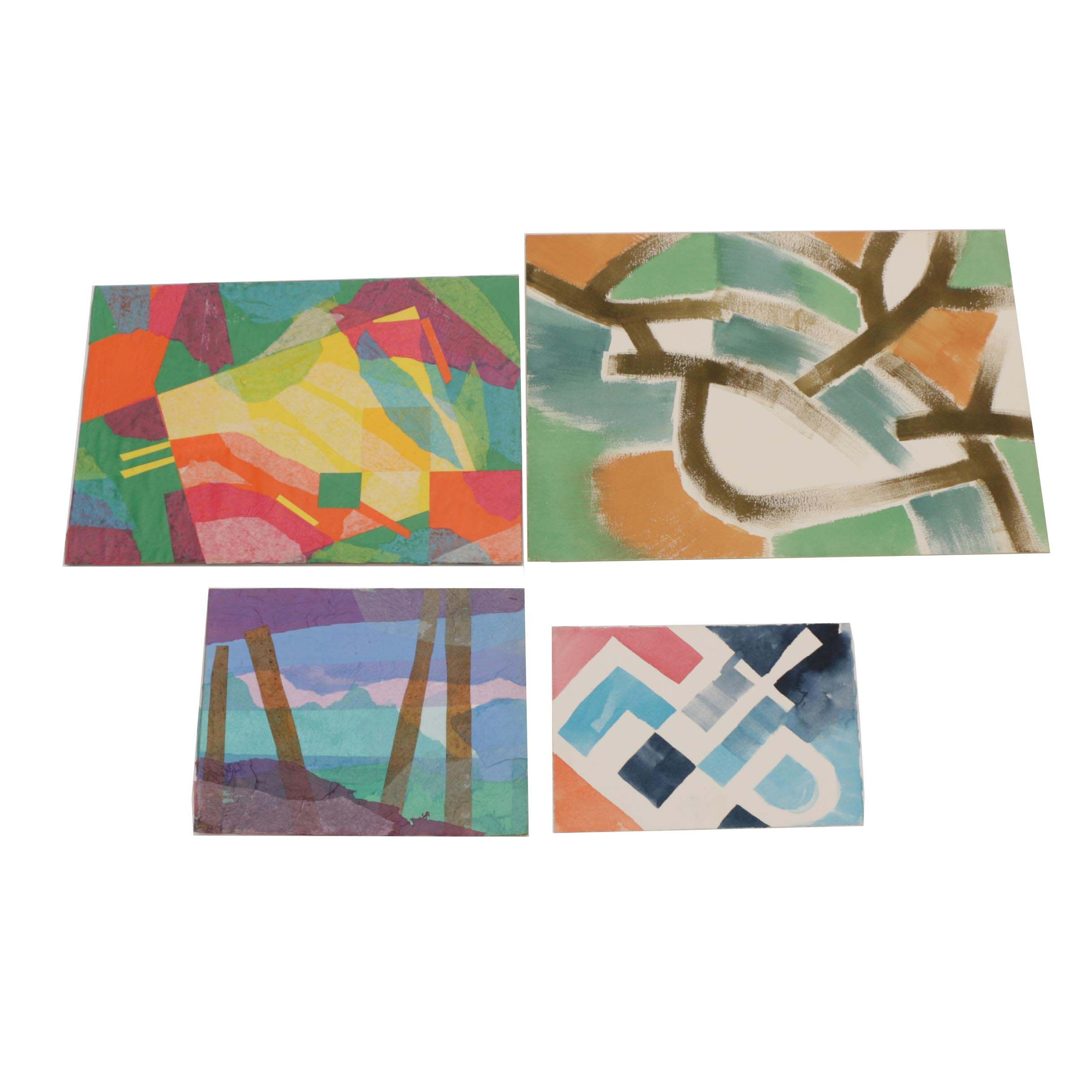 Carol Mathews Abstract Watercolor Paintings and Mixed Media Collages