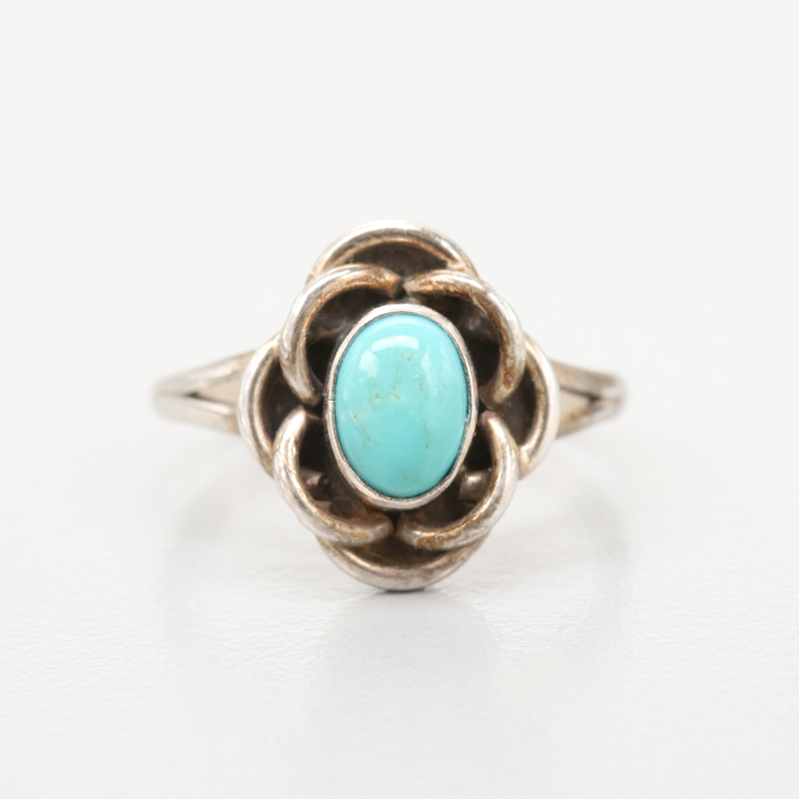 Ruth Ann Begay Navajo Diné Sterling Silver Turquoise Ring