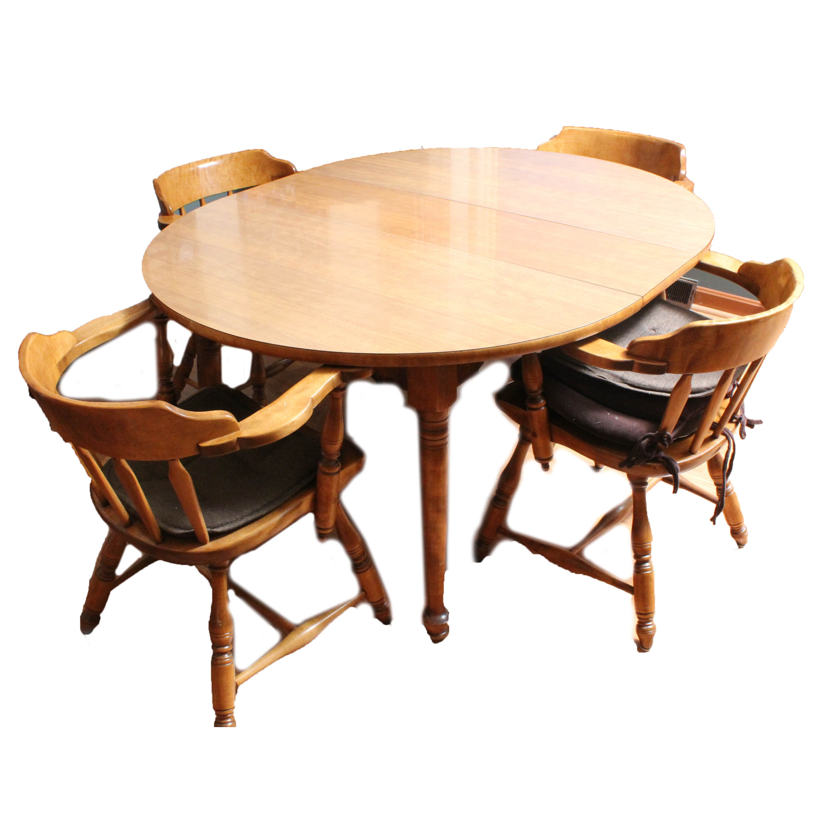 Vintage Wood and Laminate Kitchen Table and Chair Set
