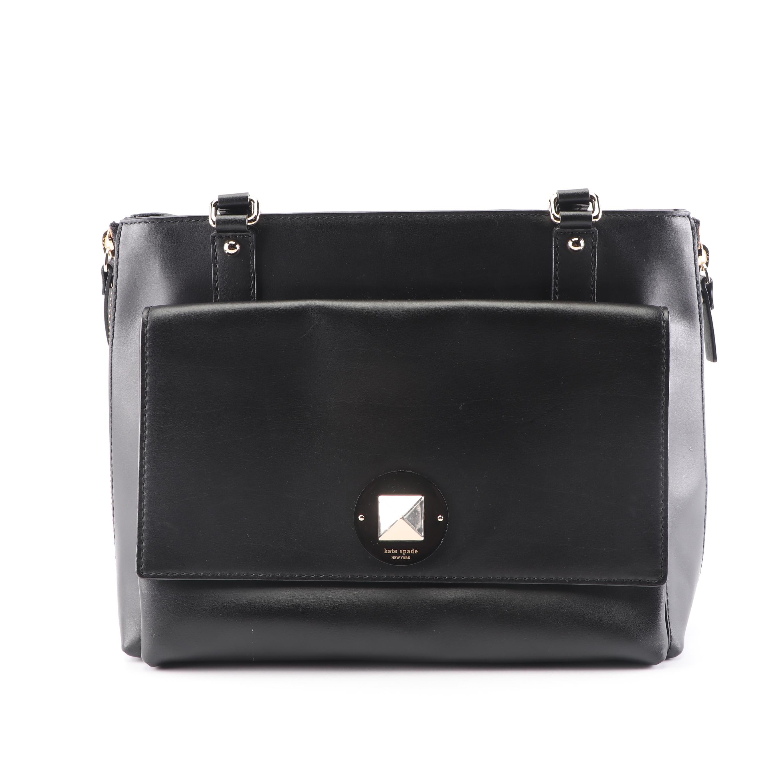 Kate Spade New York Black Leather Shoulder Bag