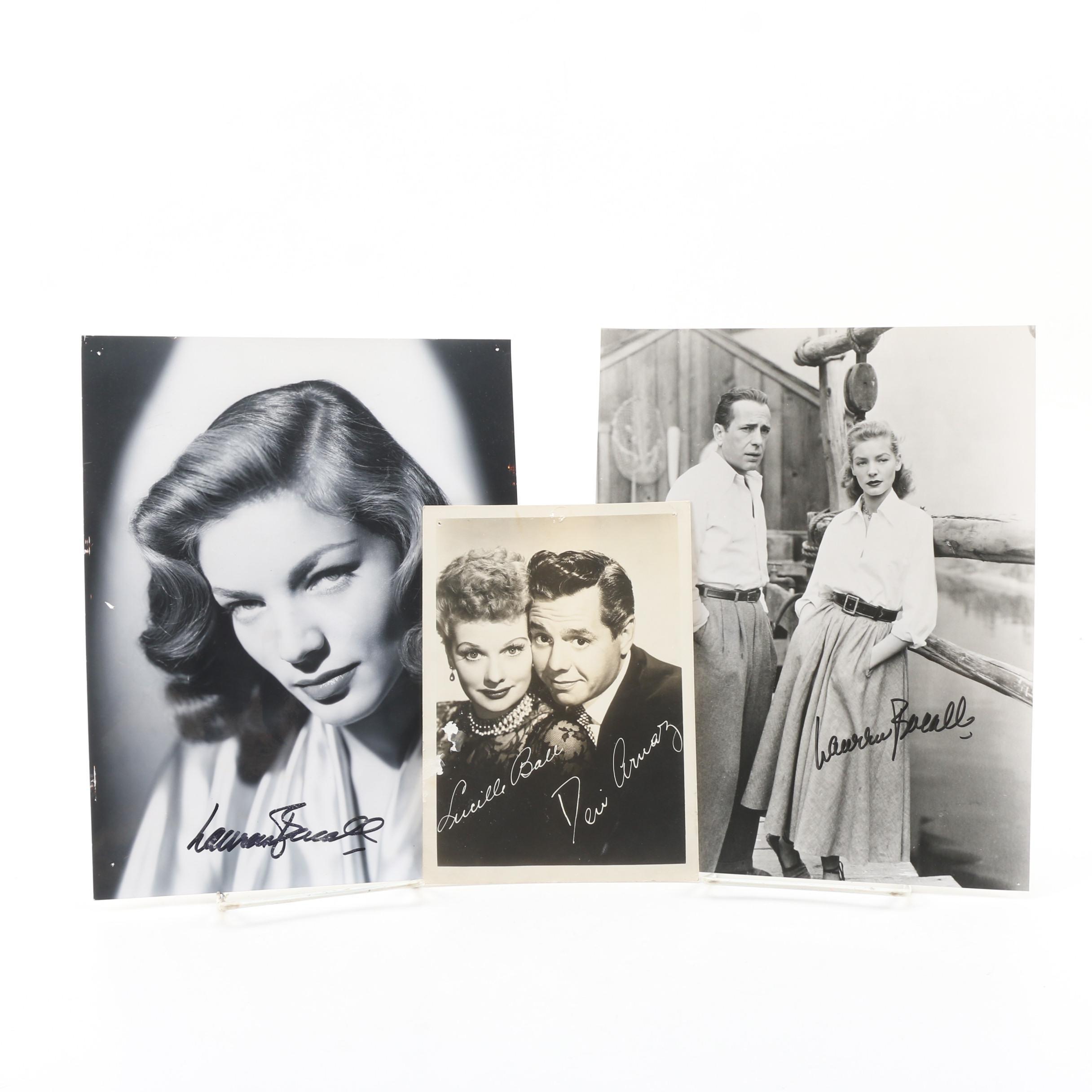Lauren Bacall Autographed Photographs