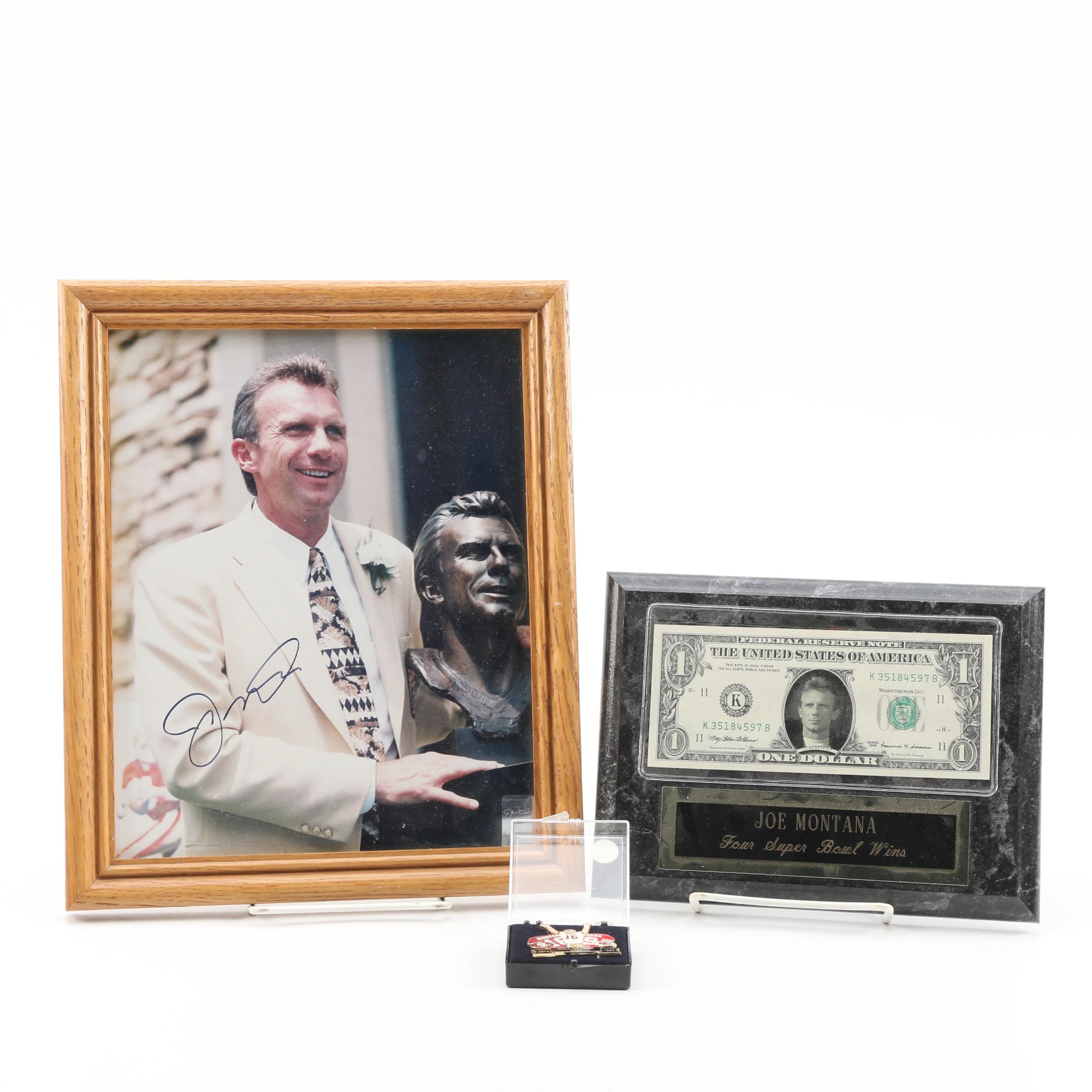 Joe Montana Autographed Photograph and Collectibles