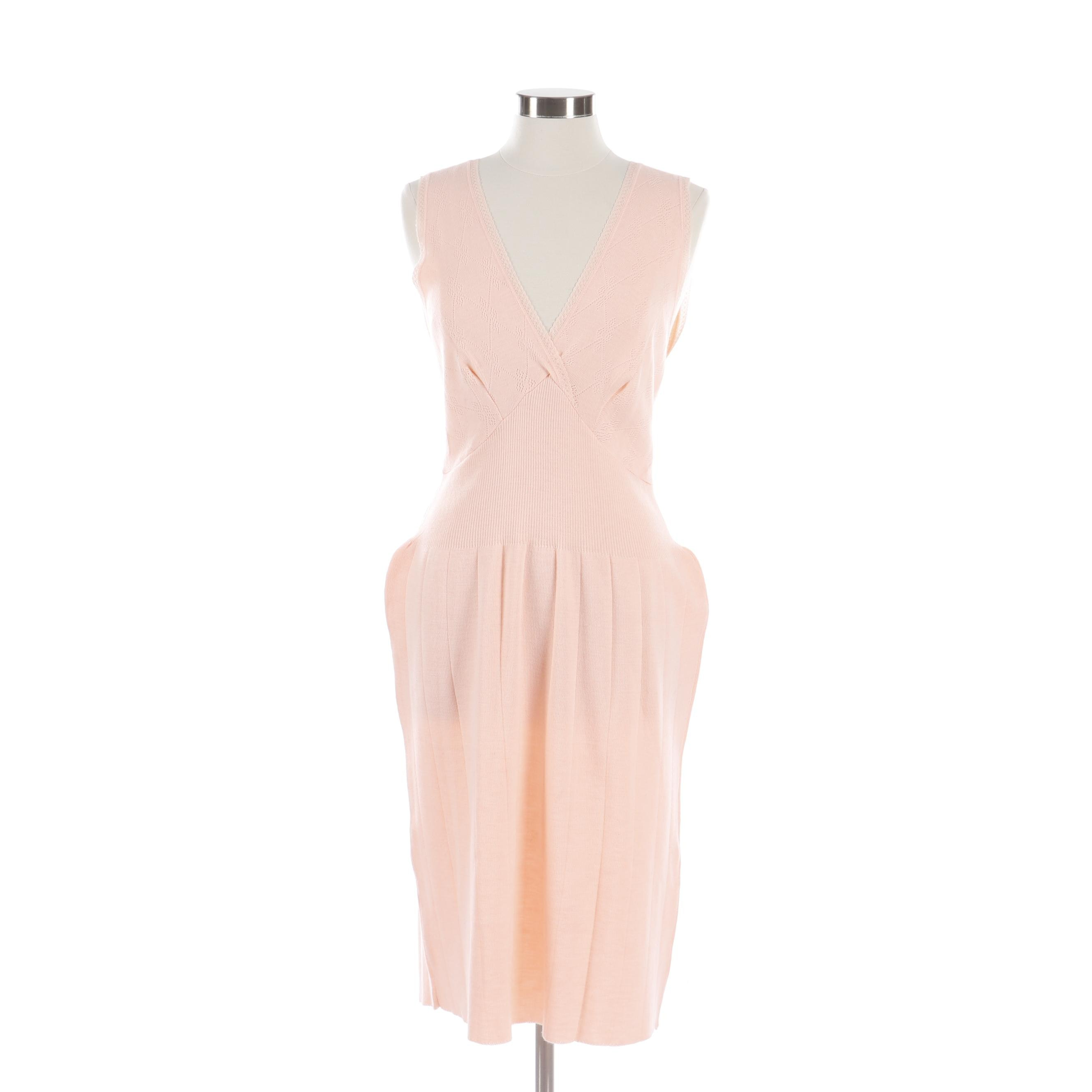 Judy Maxwell Pink Sleeveless Sweater Dress