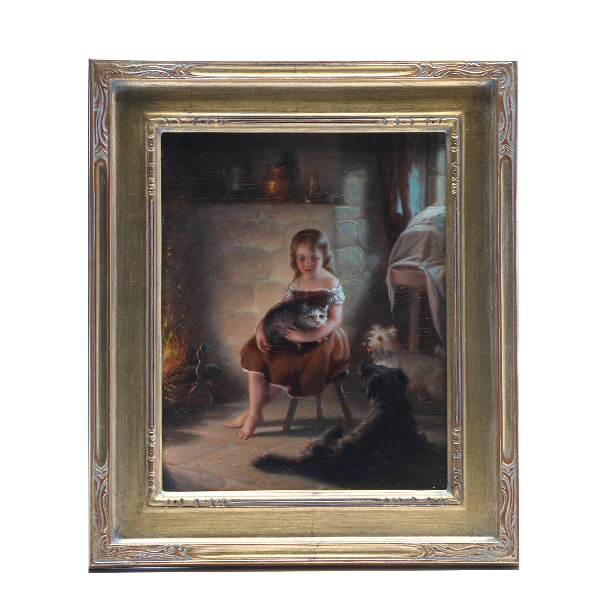 1871 Oil Painting on Panel