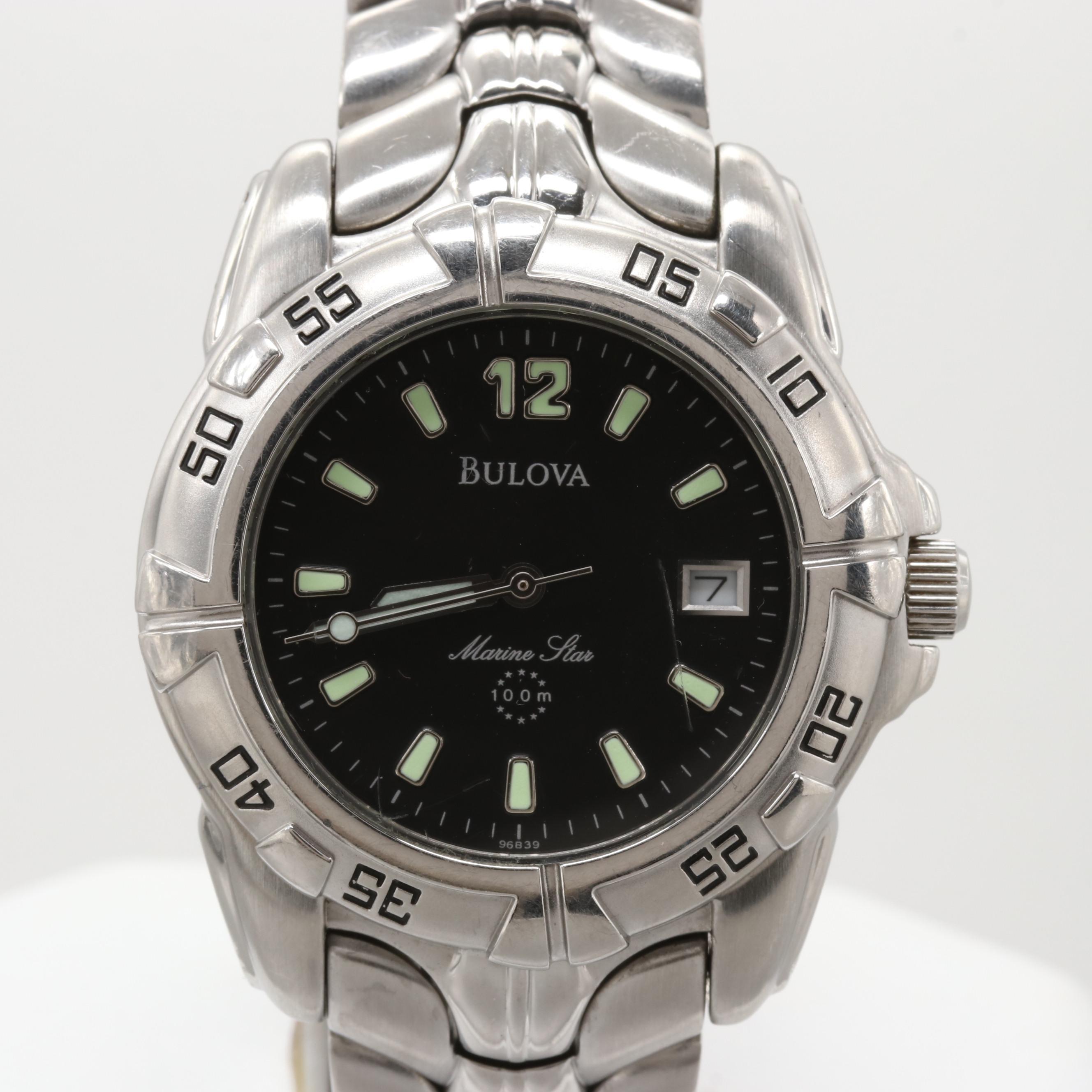 Bulova Marine Star Stainless Steel Quartz Wristwatch