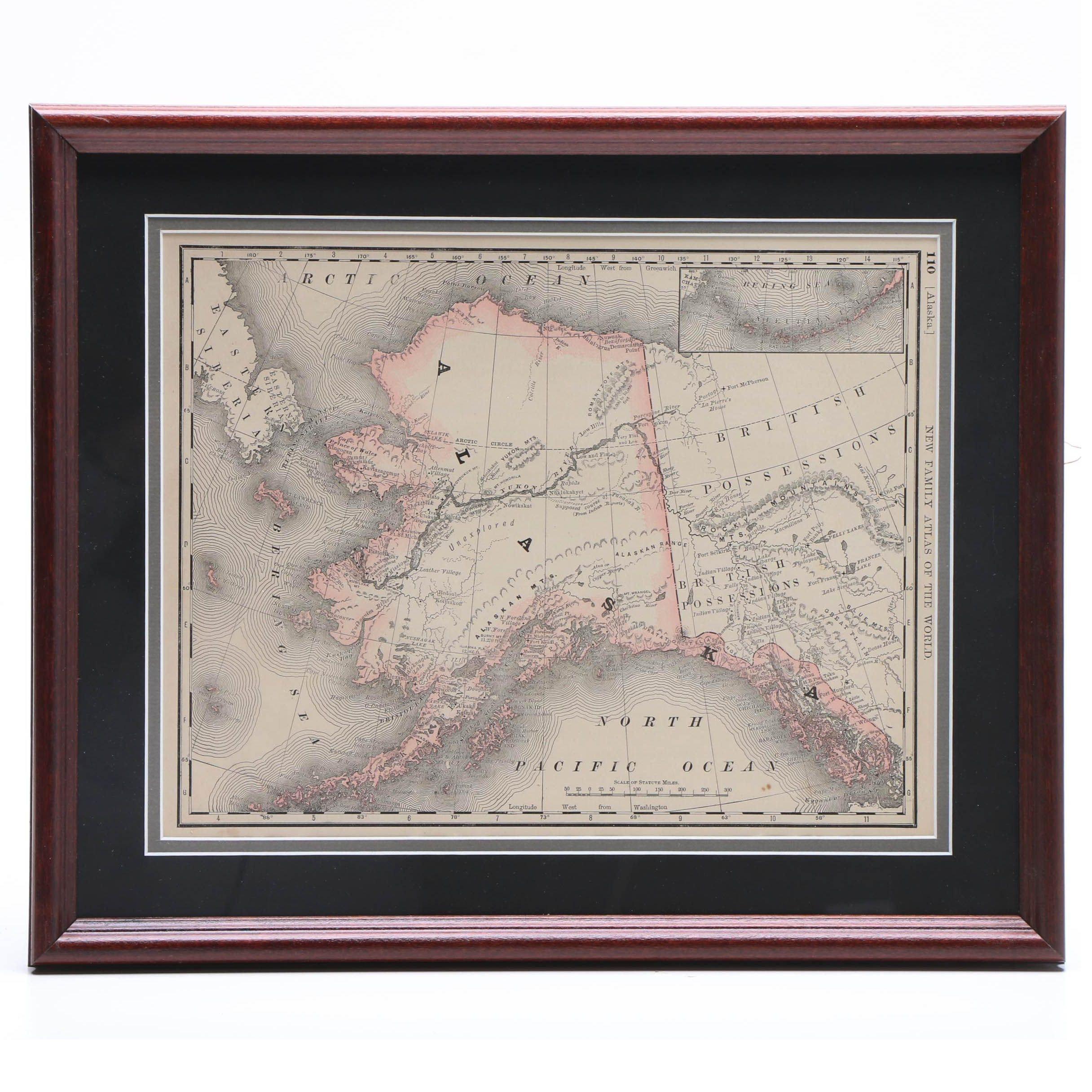 1889 Map of Alaska