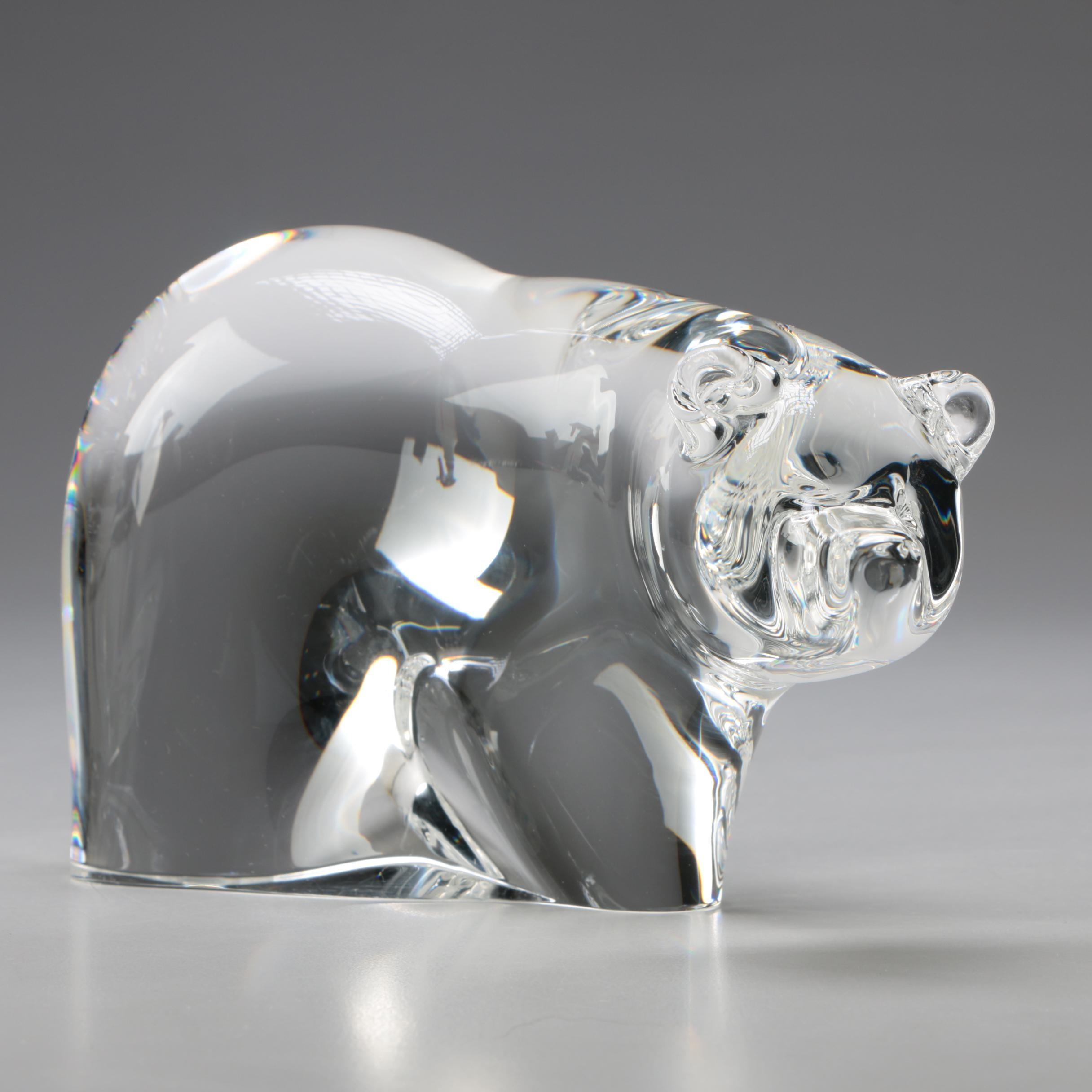 "Steuben Art Glass ""Great Bear"" Figurine"