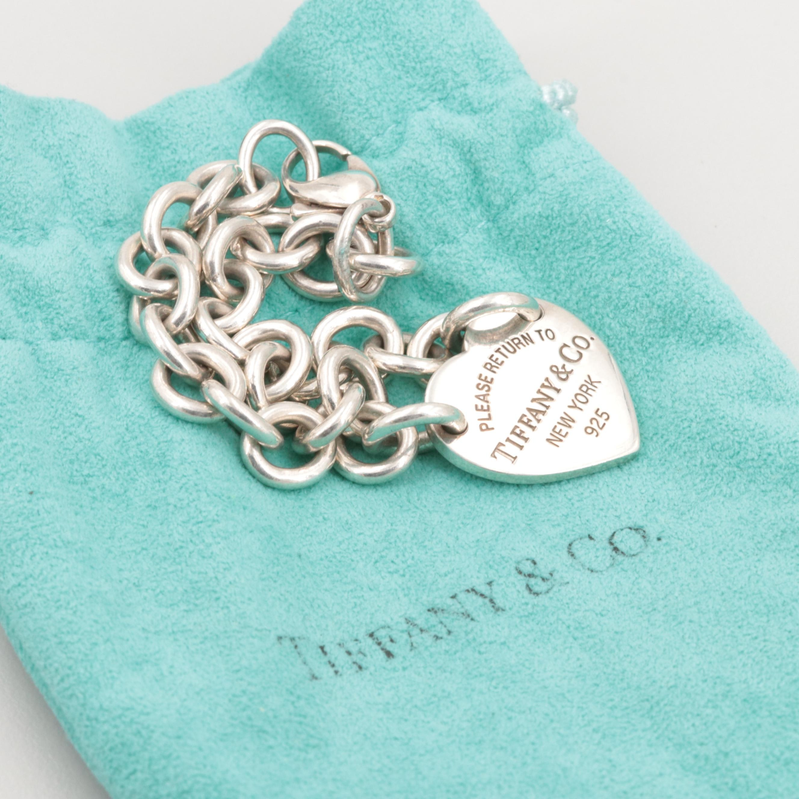 "Tiffany & Co ""Return to Tiffany"" Sterling Silver Bracelet with Pouch"