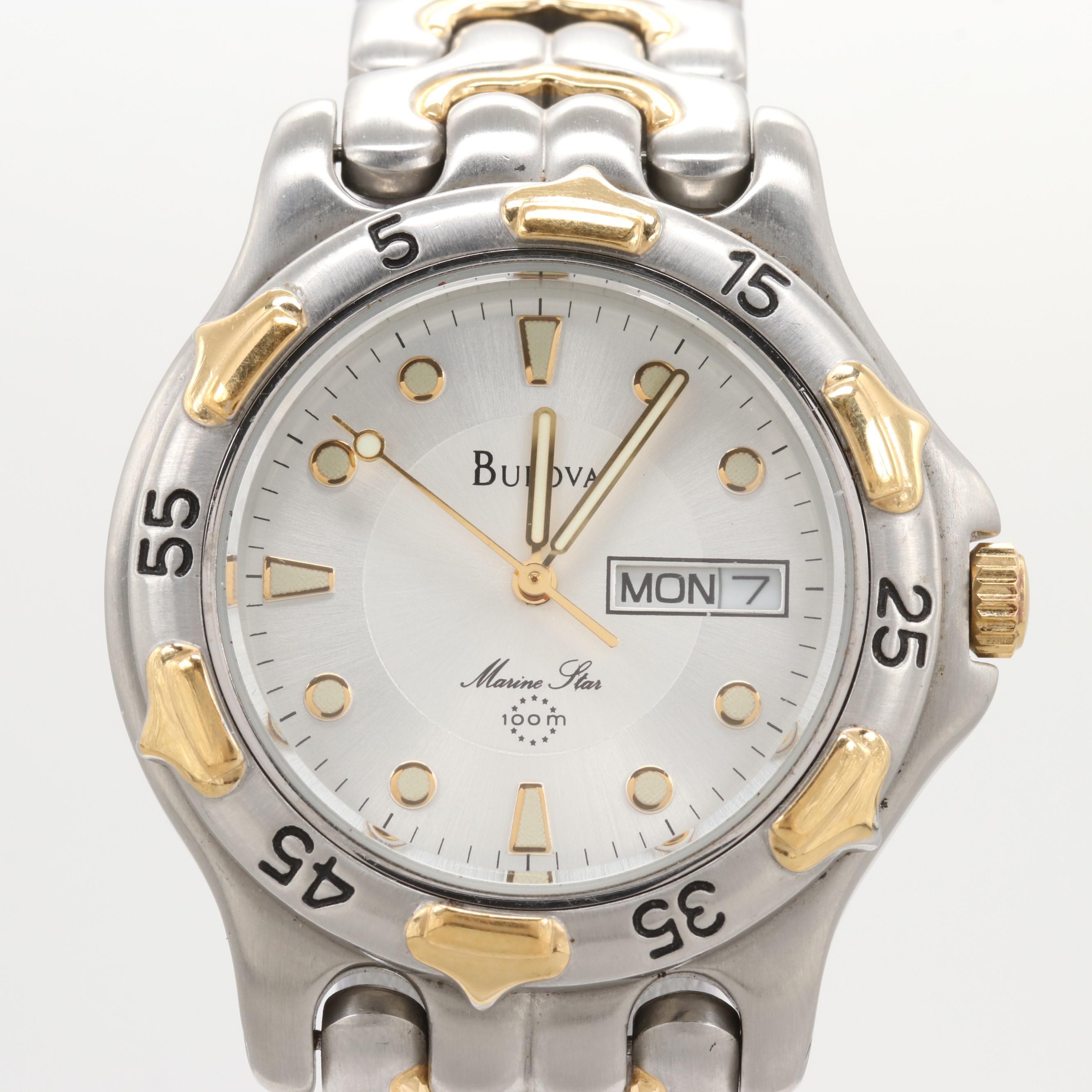 Bulova Marine Star Two-Tone Day-Date Quartz Wristwatch