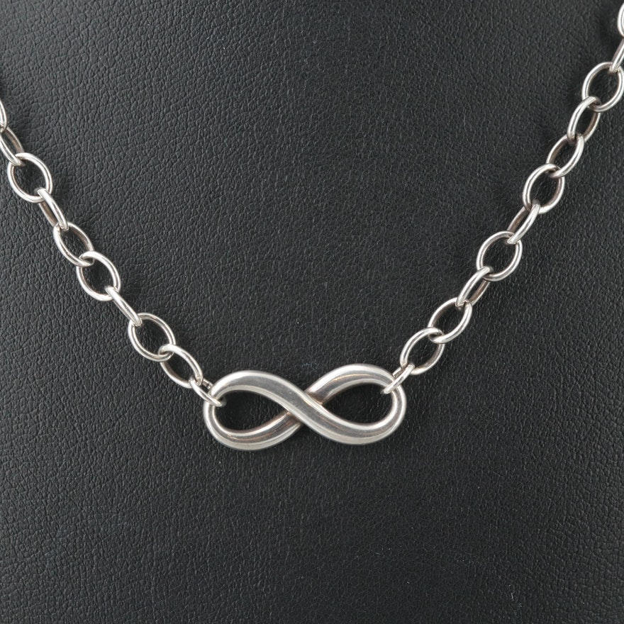 a8641ba7c Tiffany & Co Sterling Silver Infinity Necklace : EBTH