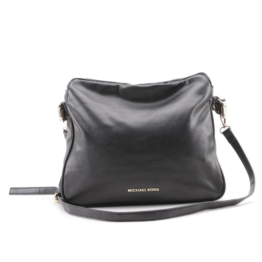 bede9725cc9817 MK Michael Kors Black Leather Shoulder Bag | EBTH