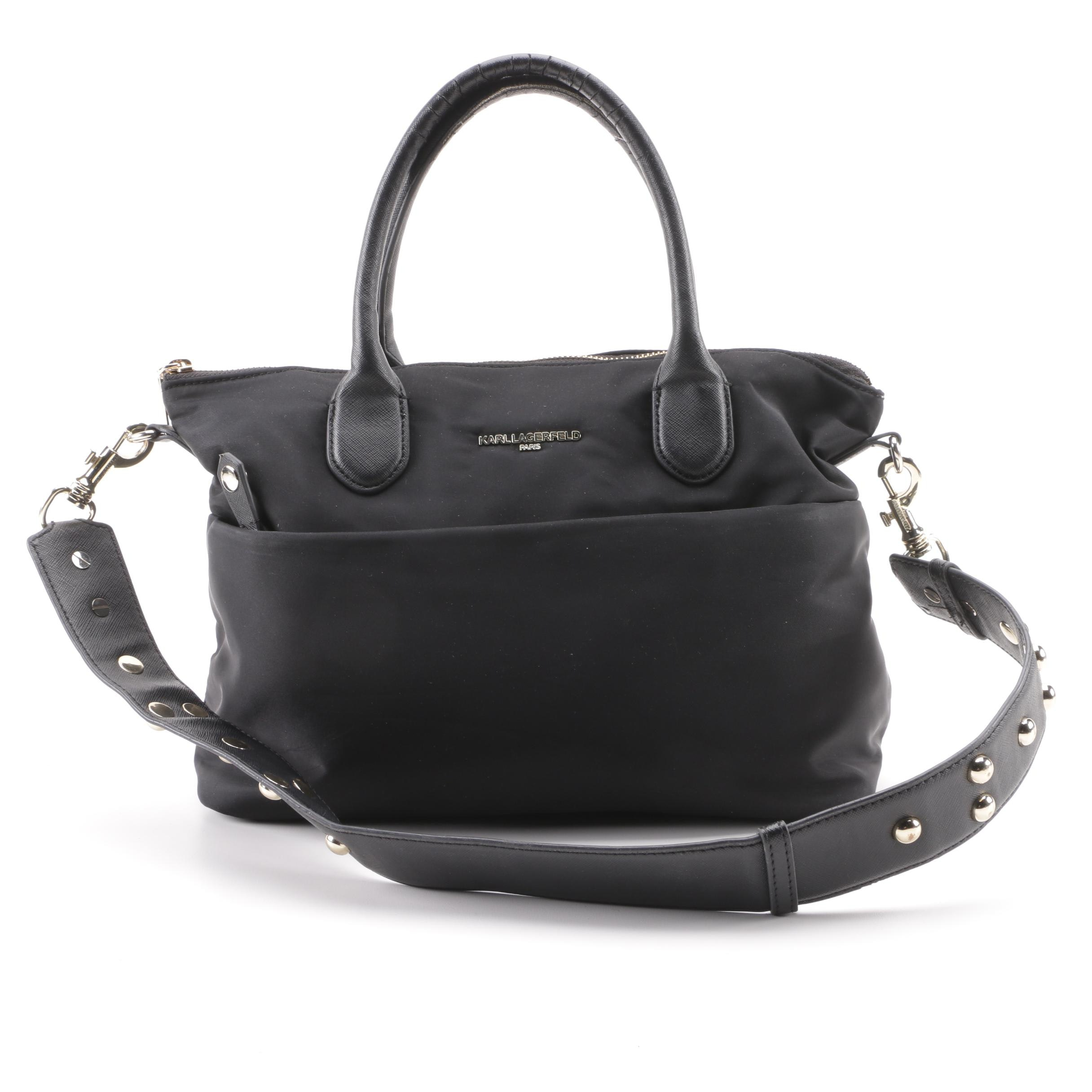 Karl Lagerfeld Paris Black Nylon Shoulder Bag
