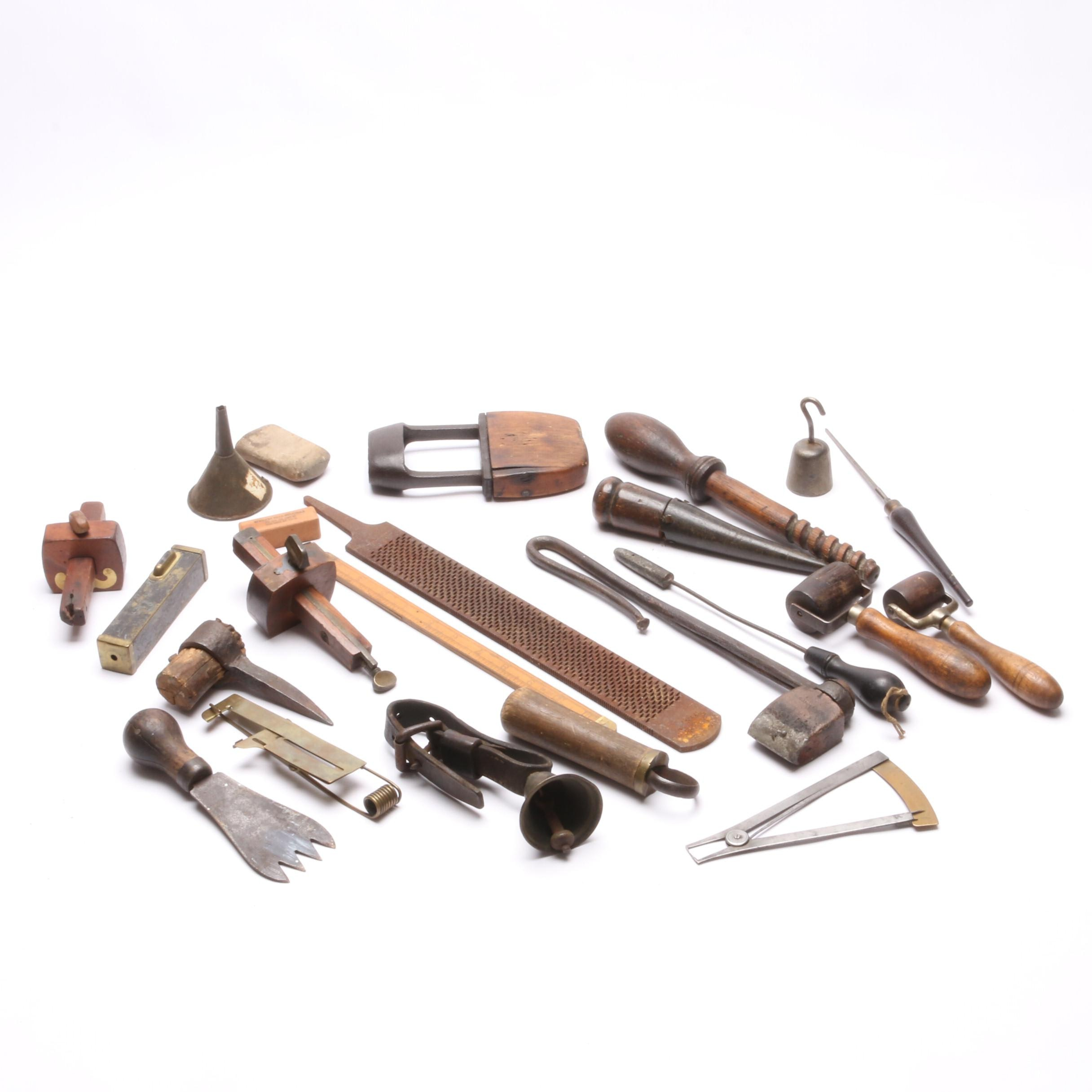 Antique Leather Working and Carpentry Hand Tools