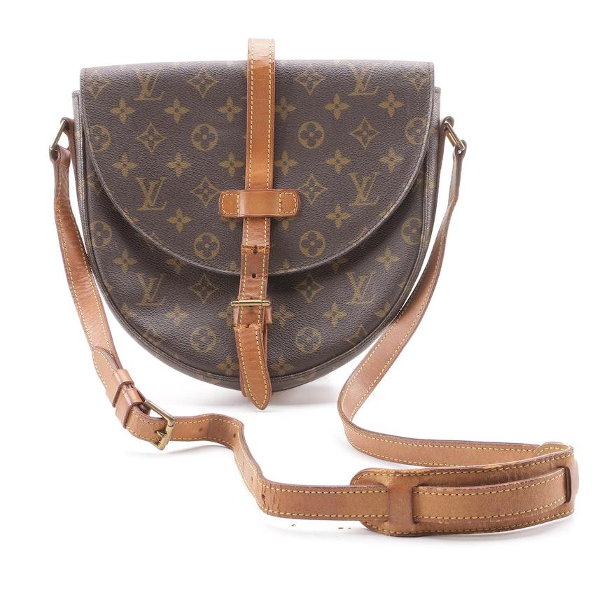 c43e110a7 1988 Vintage Louis Vuitton Paris Monogram Canvas Chantilly MM Crossbody Bag  ...