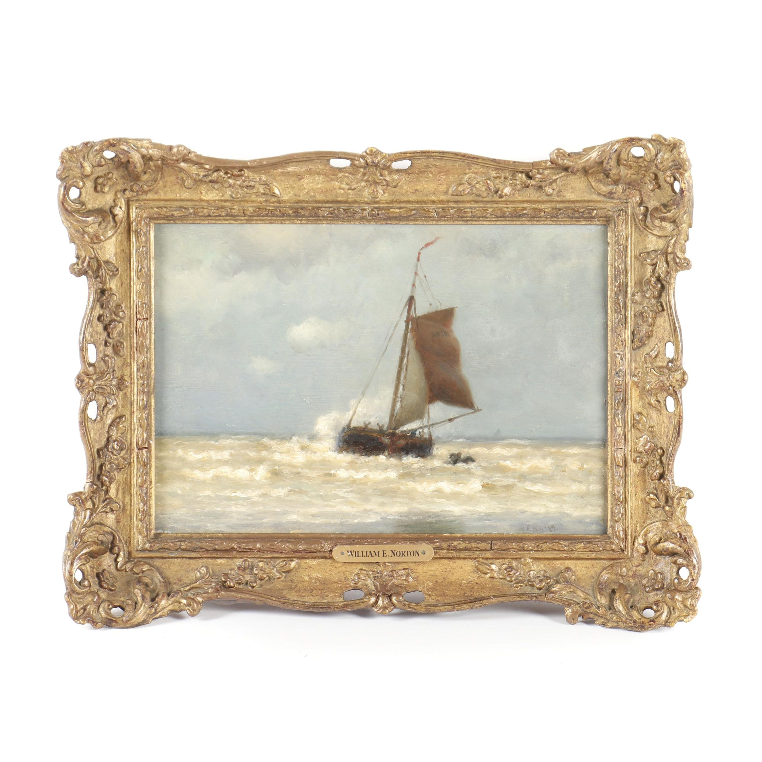William Edward Norton Nautical Oil Painting