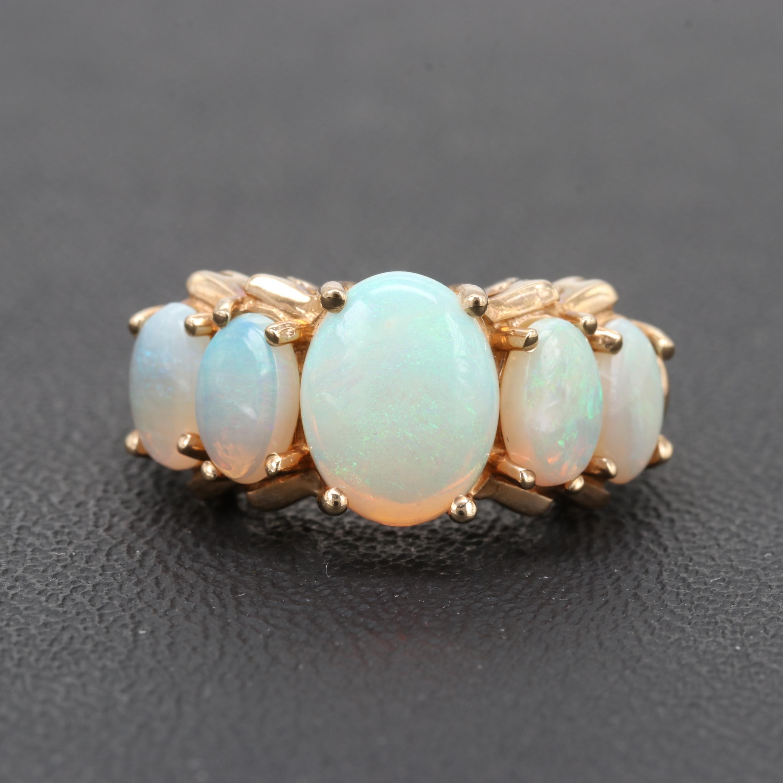 10K Yellow Gold Opal Ring