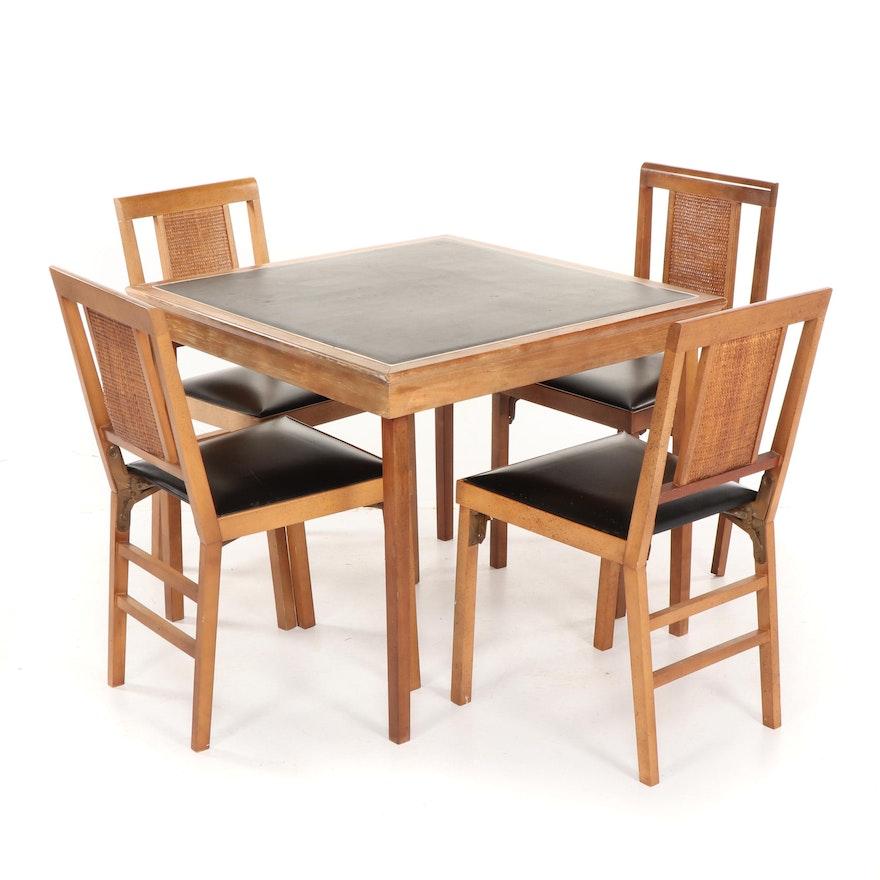 Pleasant Legomatic Folding Card Table And Side Chairs By Lorraine Industries Mid 20Th C Inzonedesignstudio Interior Chair Design Inzonedesignstudiocom