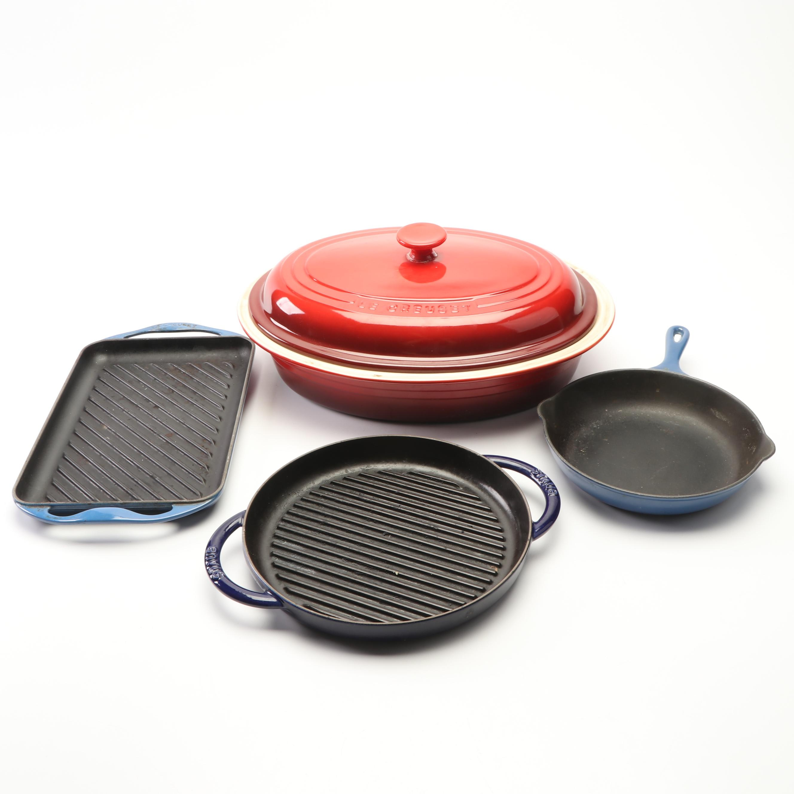 Le Creuset and Staub Enameled Cookware