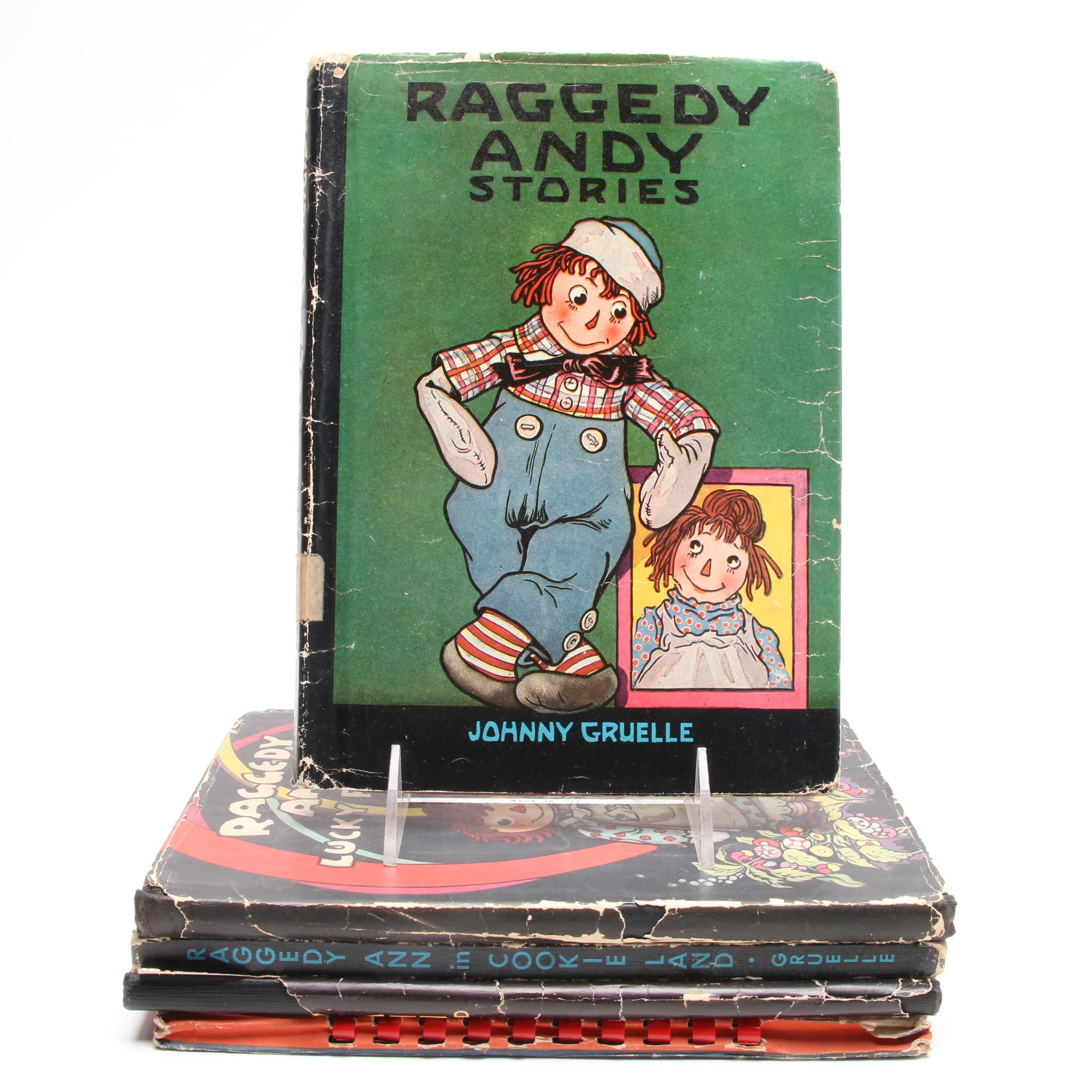 Raggedy Ann and Andy Books by Johnny Gruelle including First Editions