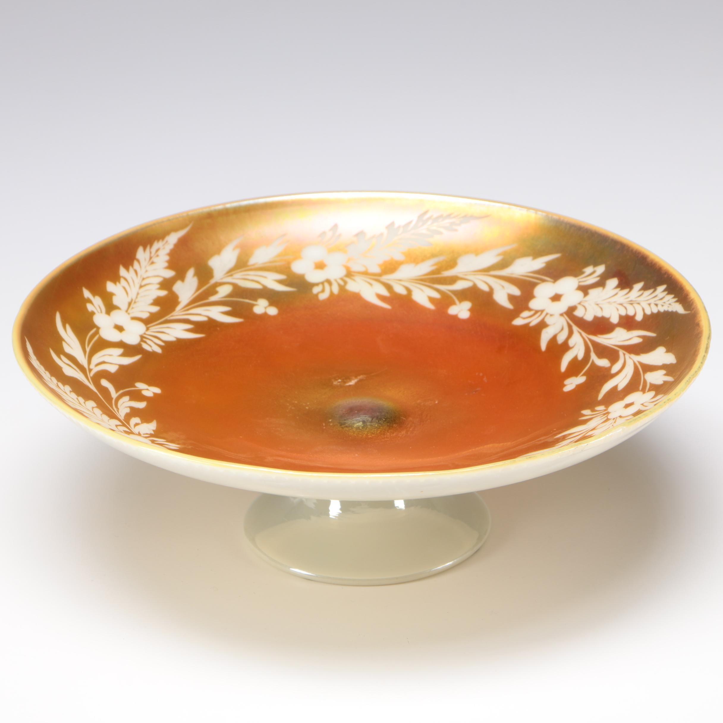 Steuben Art Glass Gold Aurene Over Calcite Centerpiece Bowl