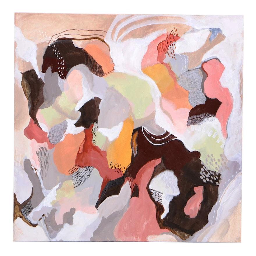 "Sanna Abstract Acrylic Painting ""Living in Harmony"""