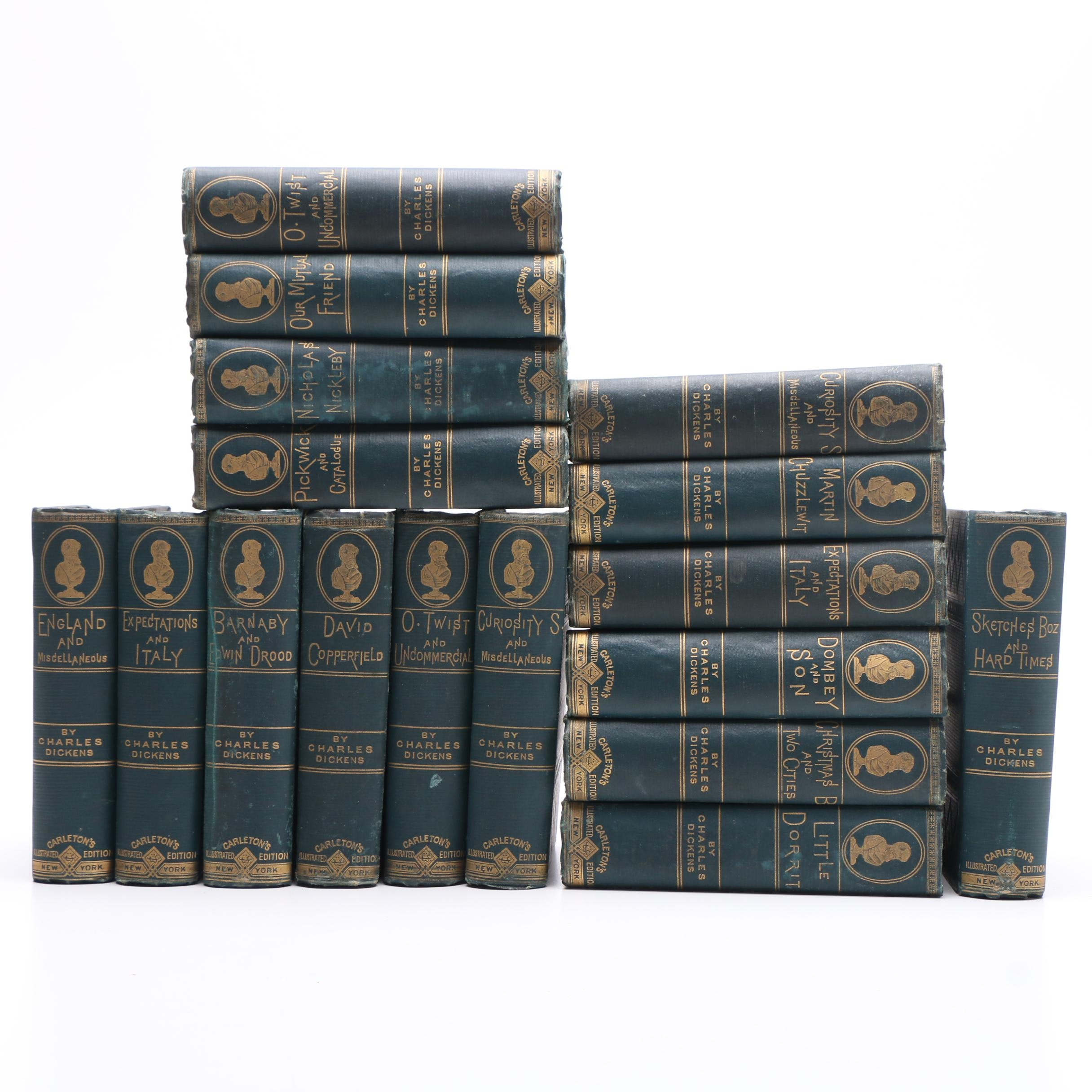 """""""Works of Charles Dickens"""", Carleton's New Illustrated Edition, 1880s"""