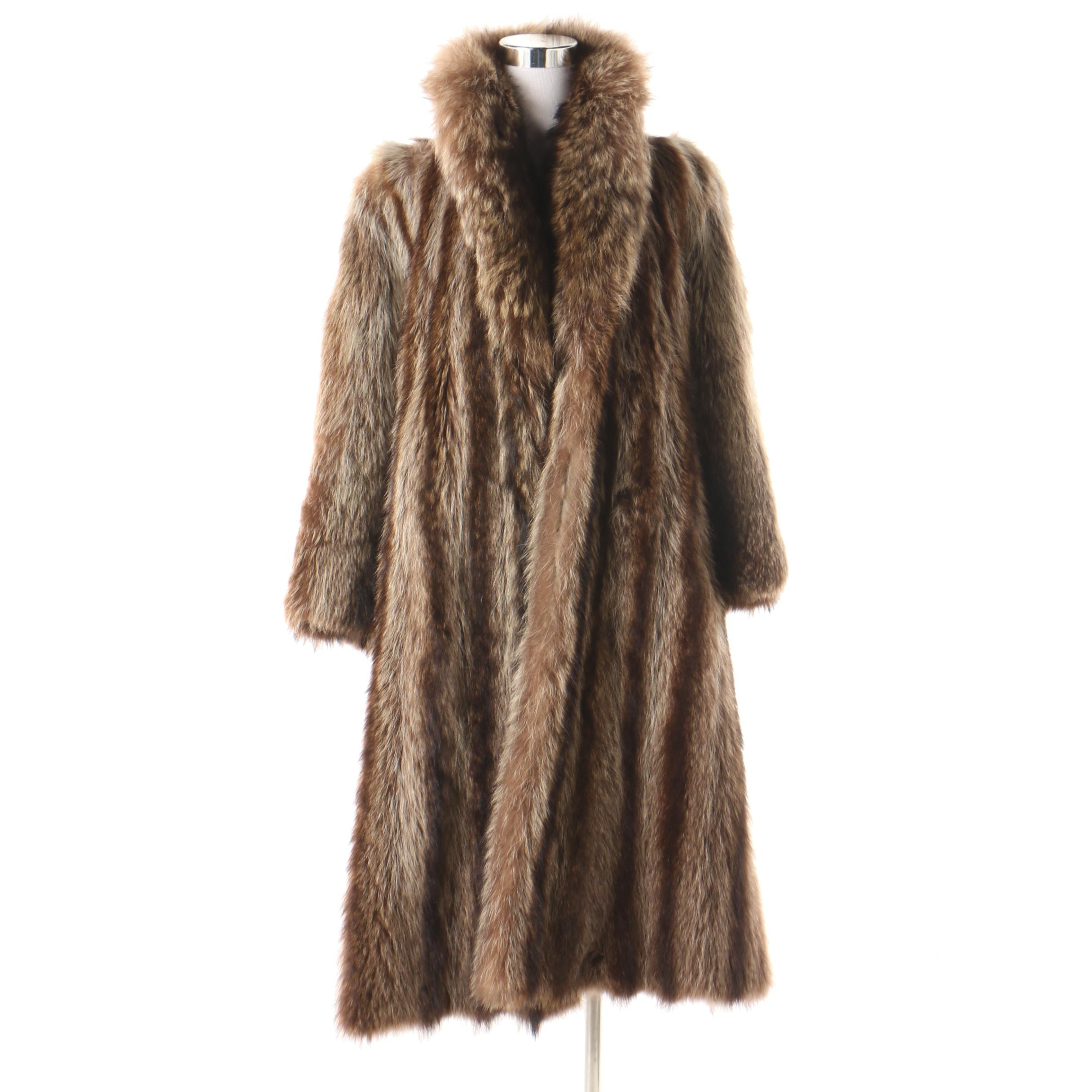 Women's Vintage Raccoon Fur Coat