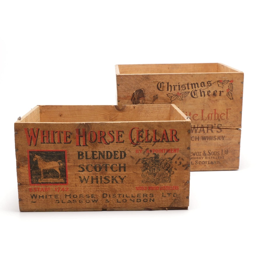 Scotch Whiskey Advertising Crates