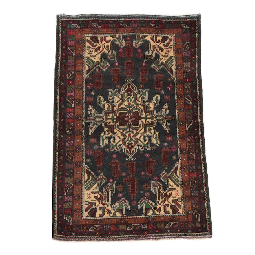 Hand-Knotted Afghani Baluch Timuri Wool Rug