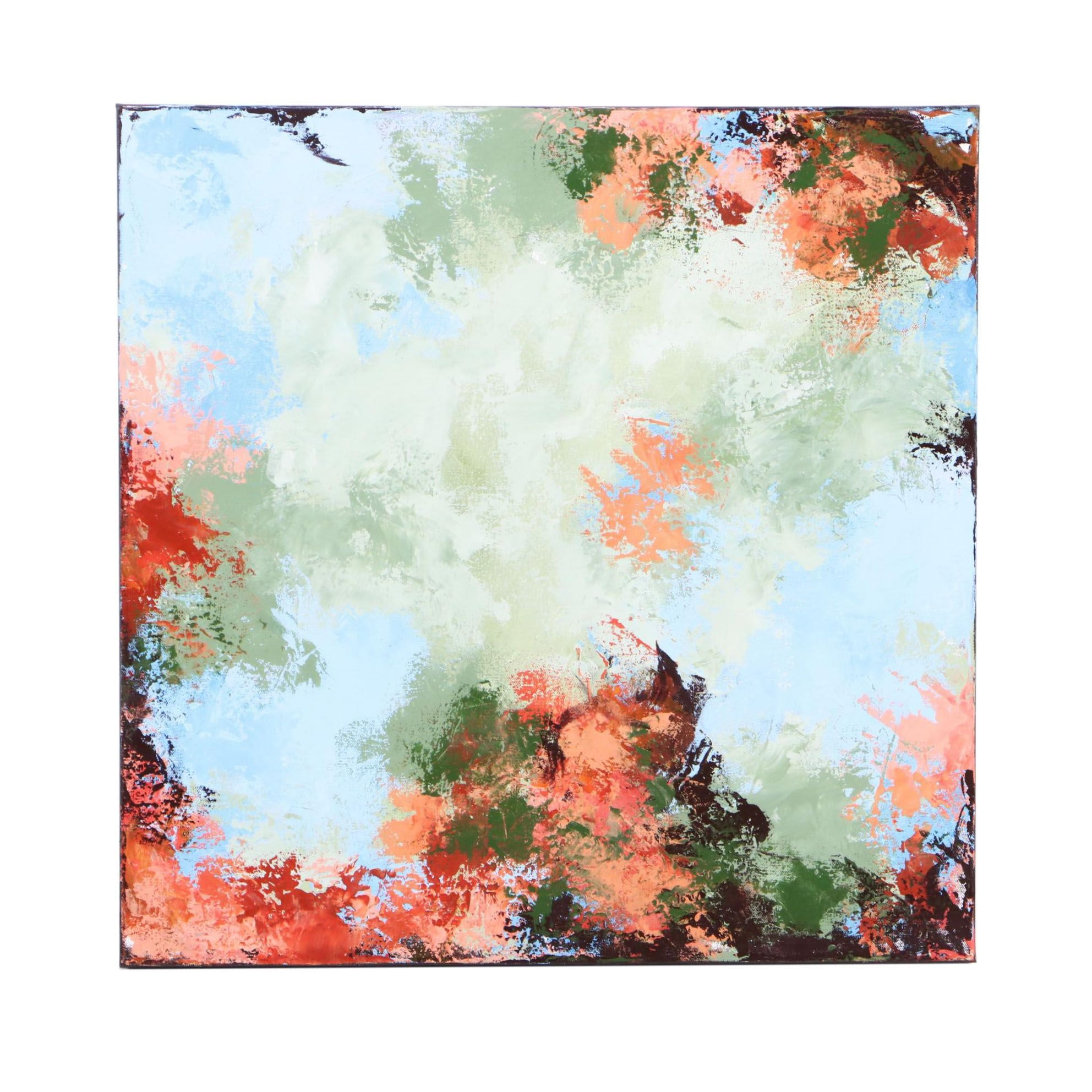"Sanna Abstract Acrylic Painting ""Morning Dance"""